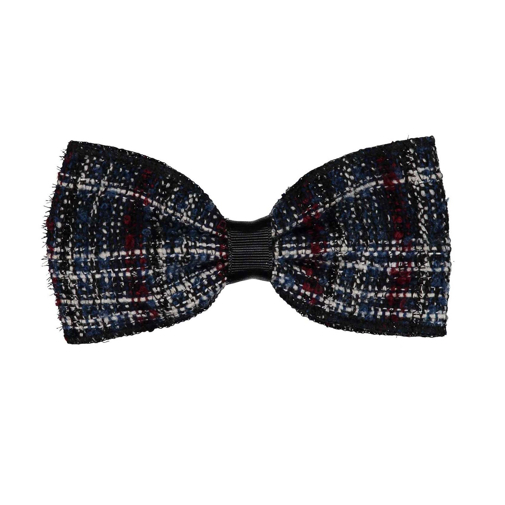 Knot Hairbands Midnight Navy Weave Tweed Bow Clip