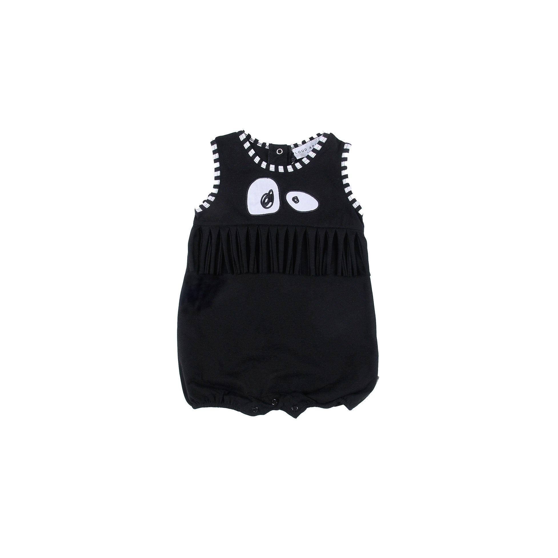 LOUD Black Adore Fringed Romper