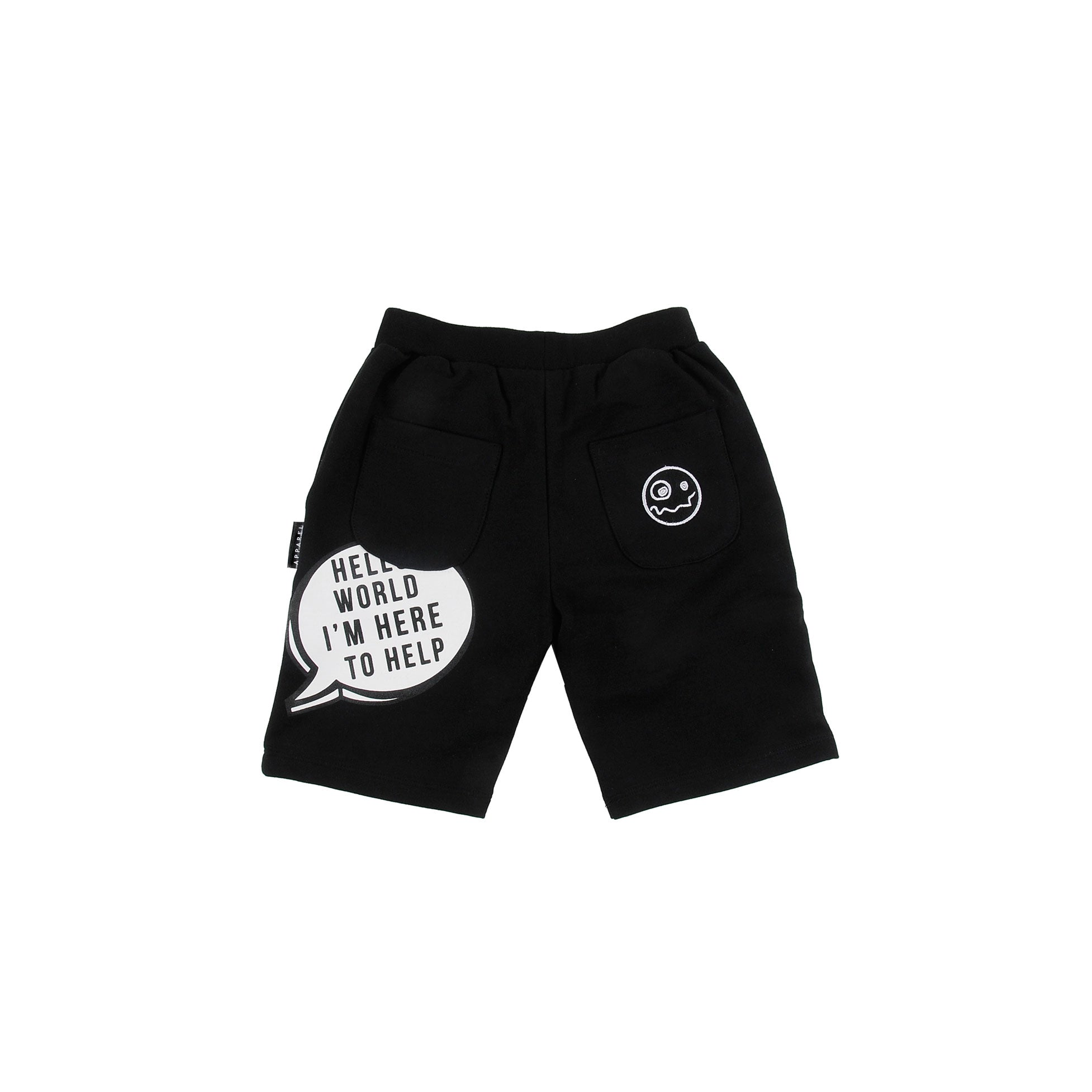 LOUD Black Smart Terry Shorts