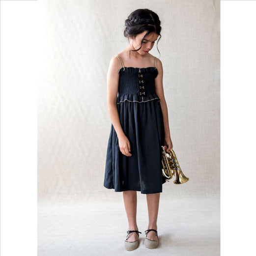 89d61a7c3f1 Belle Chiara Black Falla Smocked Dress