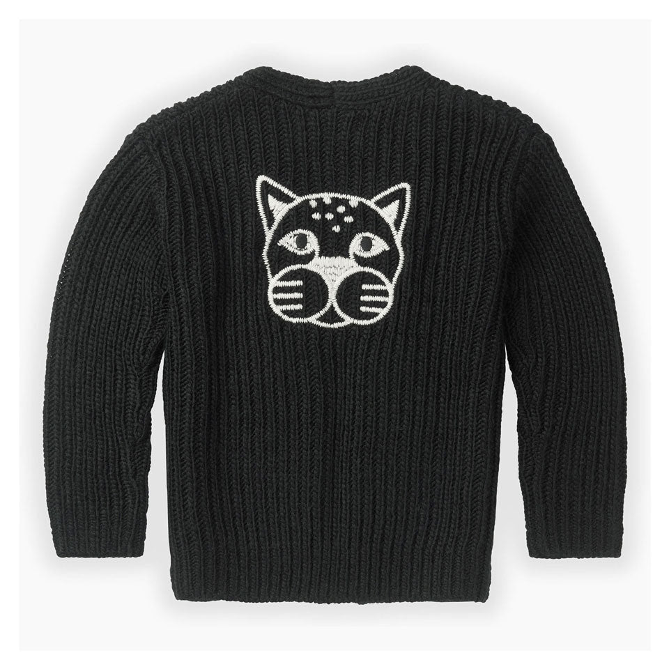 Sproet and Sprout Black Panther Head Cardigan