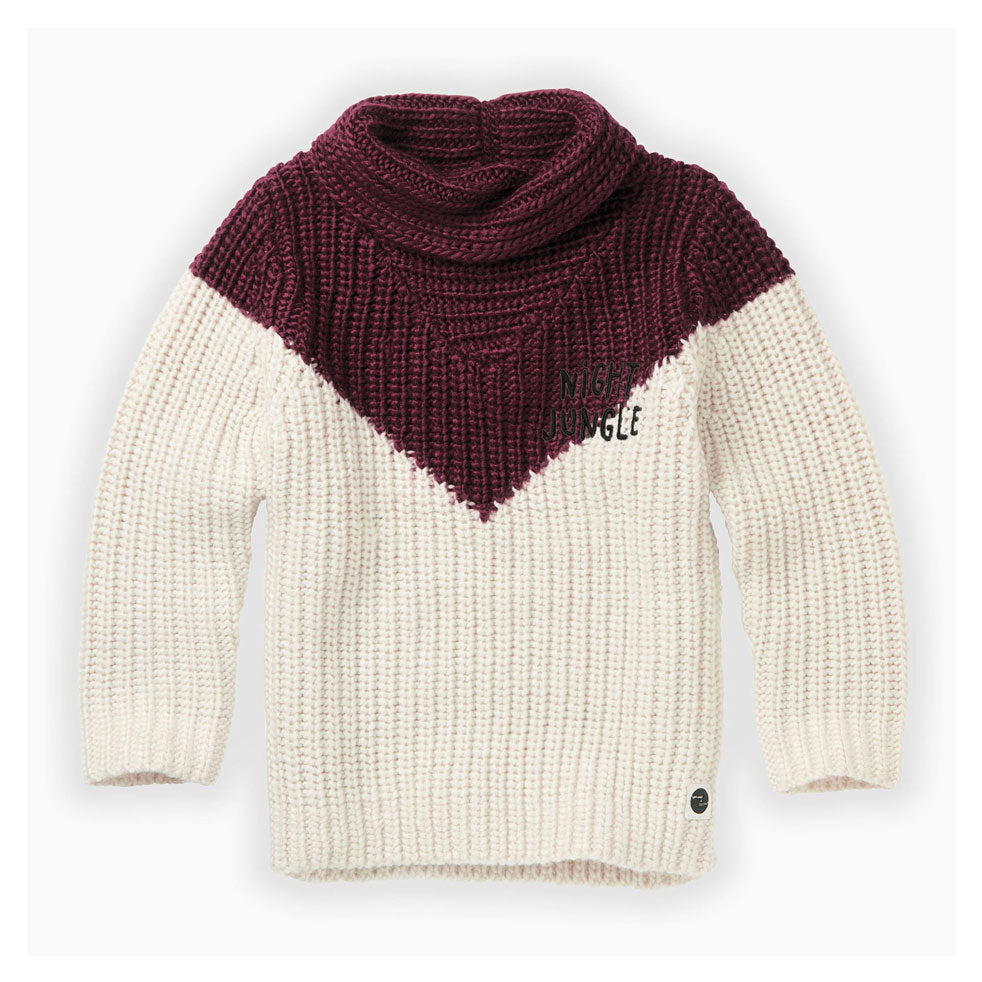 Sproet and Sprout Burgundy Colorblock Sweater