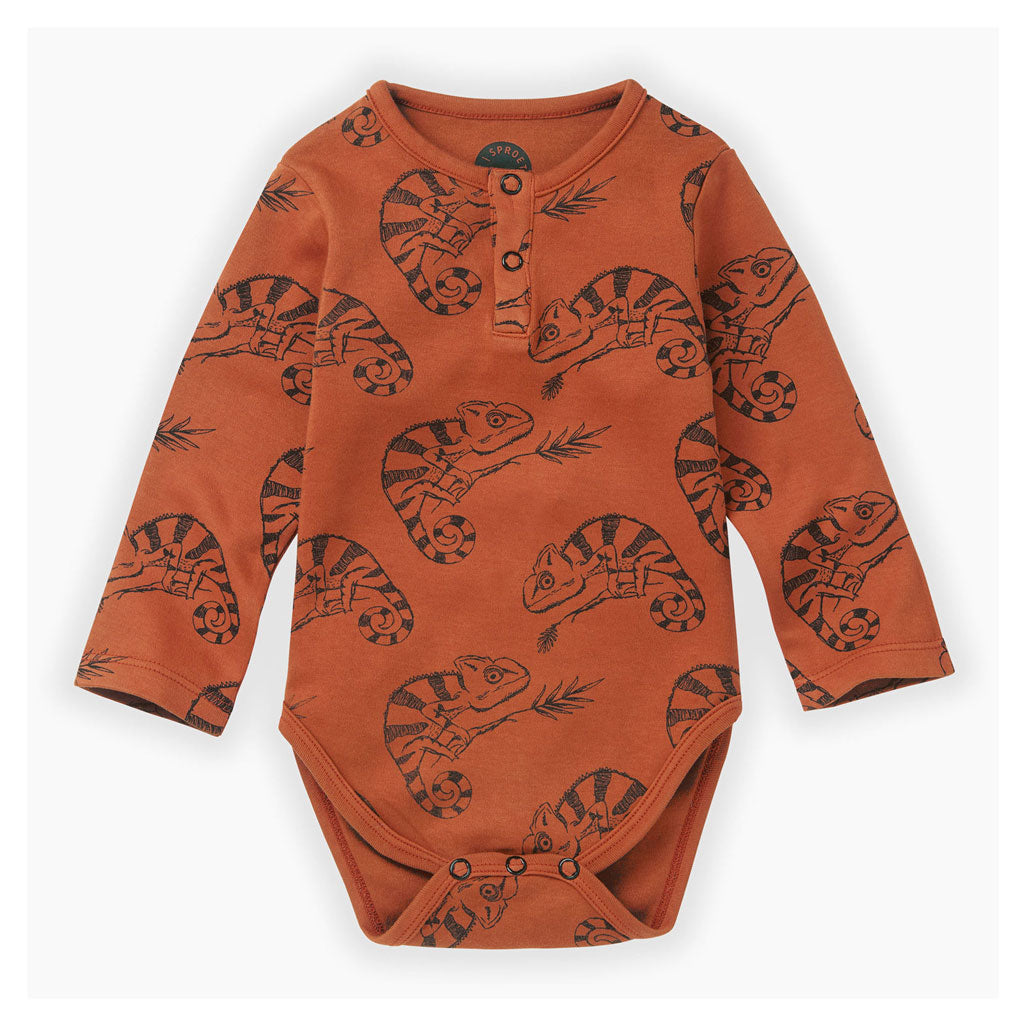 Sproet and Sprout Ginger Chameleon Bodysuit