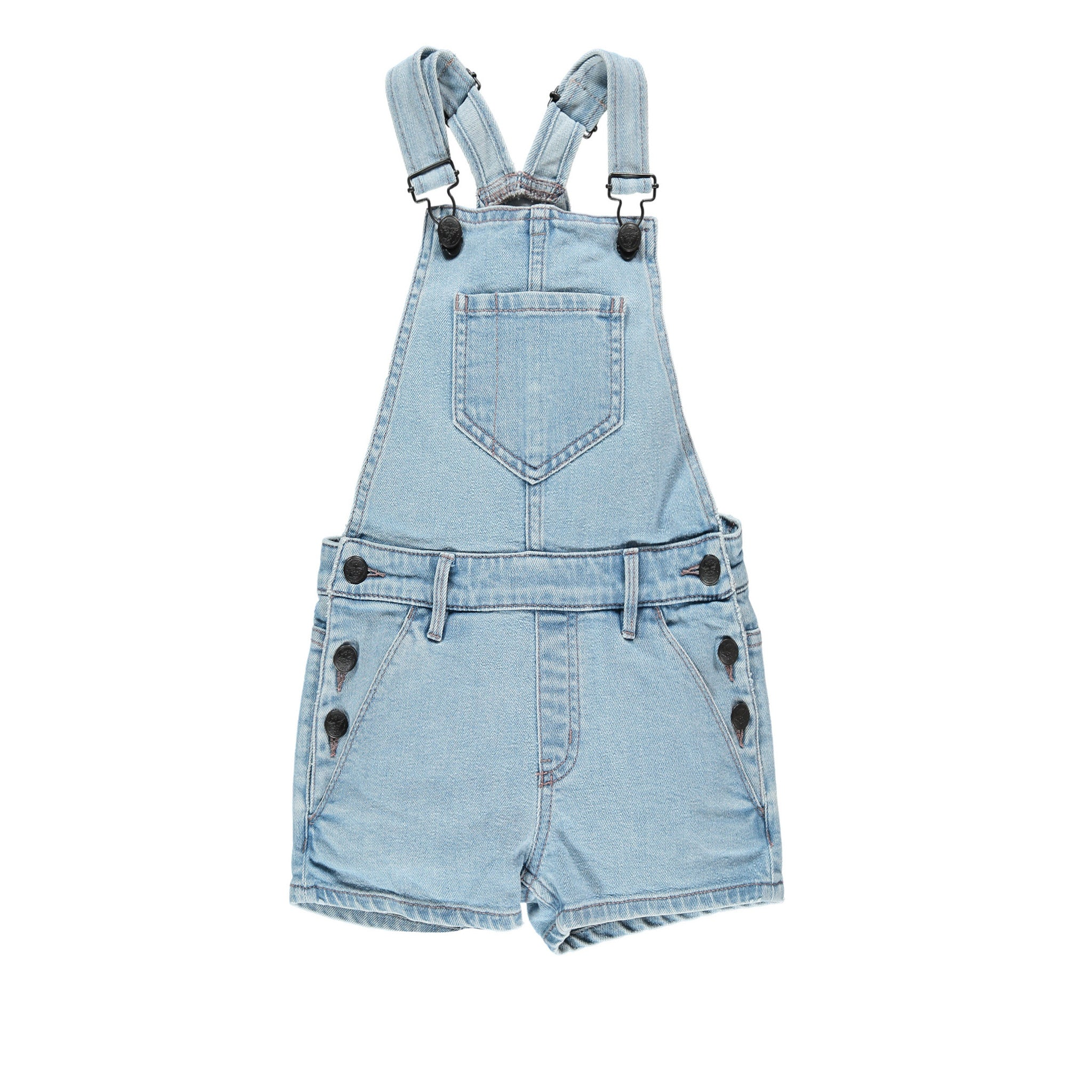 Finger in the Nose Yumi Bleached Blue Overalls - Ladida