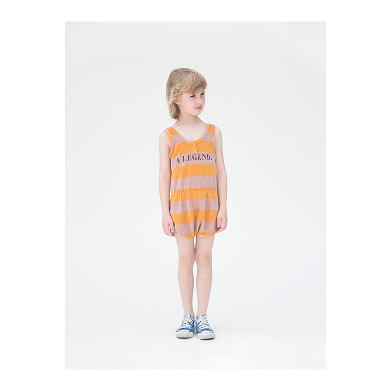 Bobo Choses A Legend Striped Terry Romper - Ladida