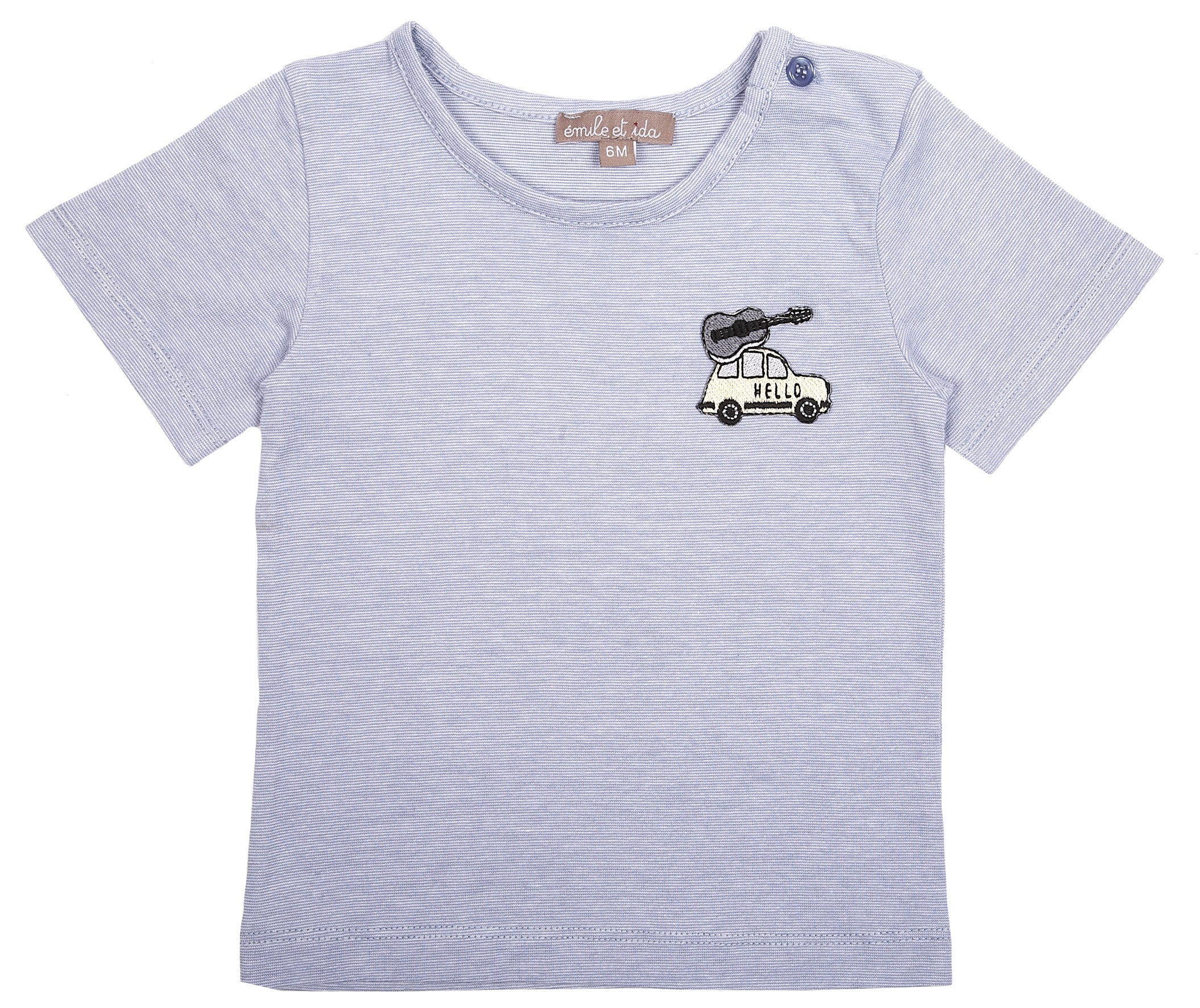 Emile Heather Blue Logo Tee - Ladida