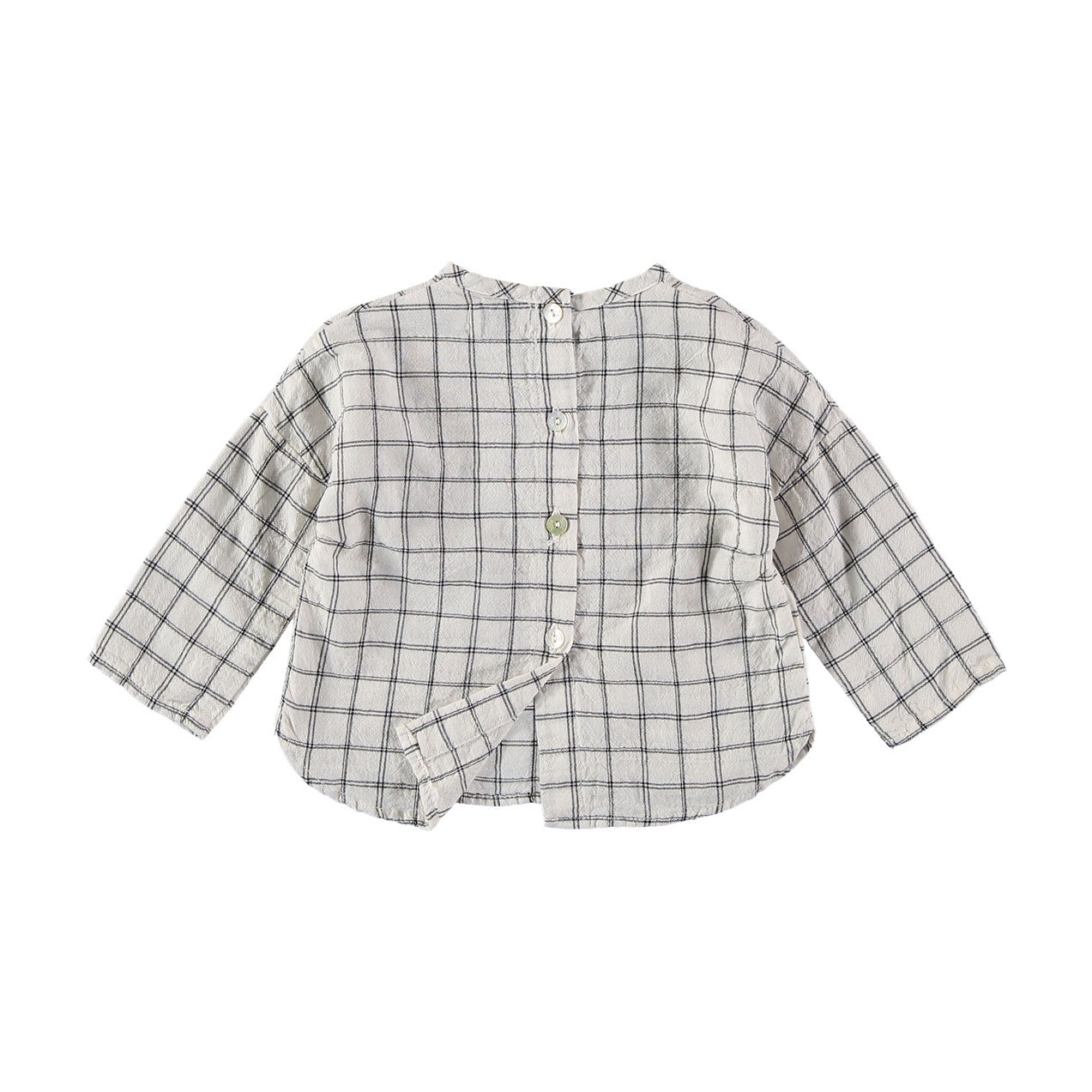 Buho Ecru Mateo Check Pockets Shirt