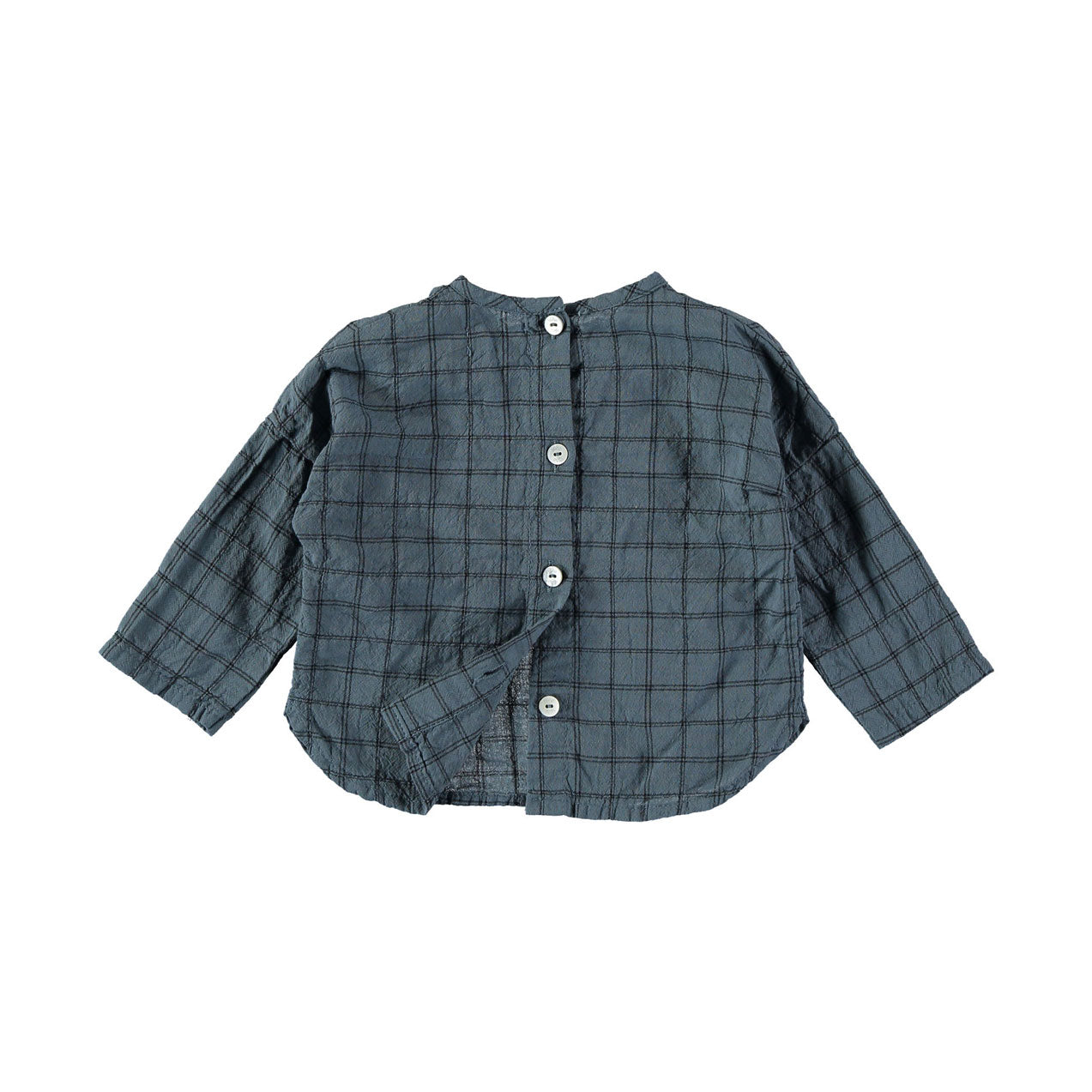 Buho Ocean Blue Mateo Check Pockets Shirt