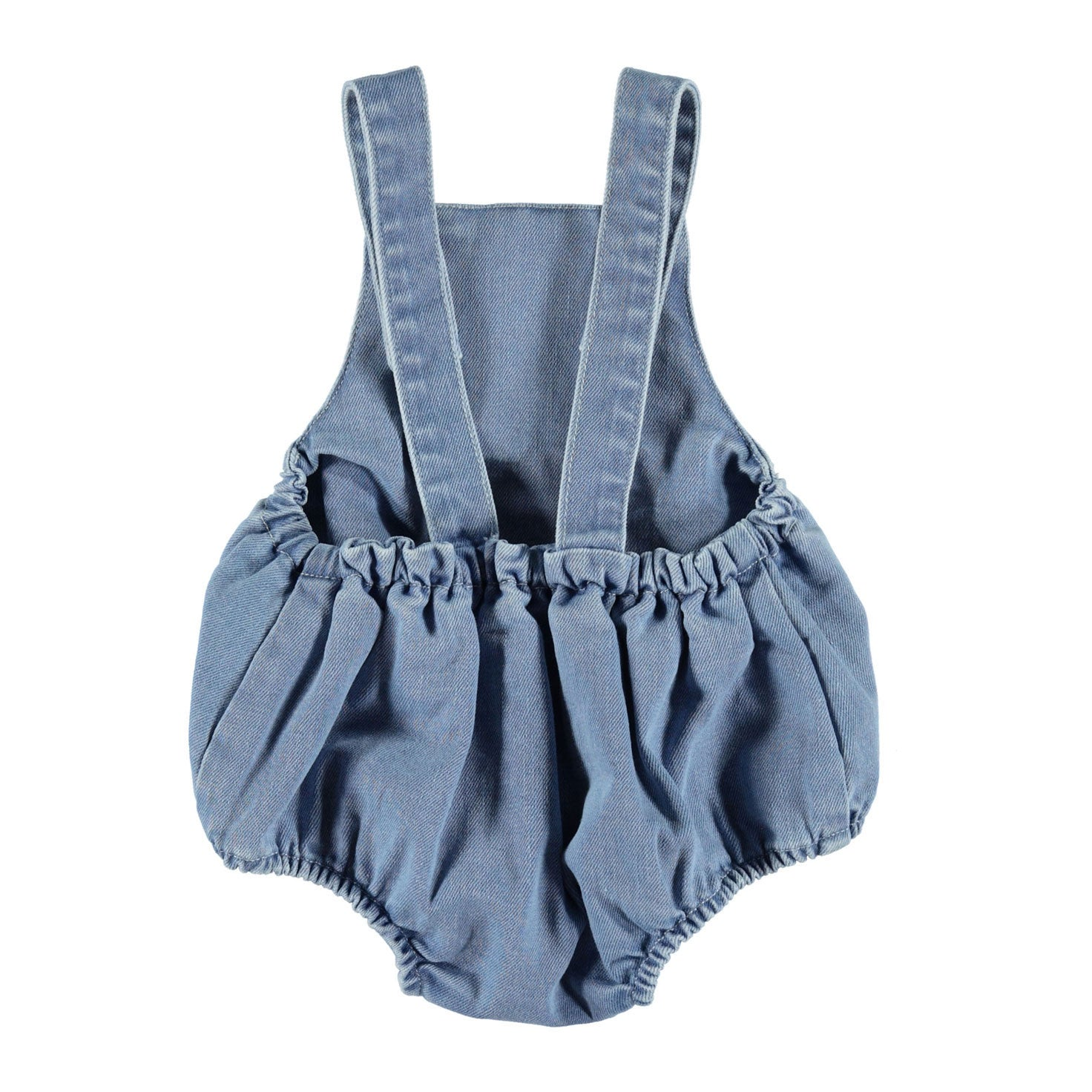 Piupiuchick Washed Blue Denim Pocket Romper