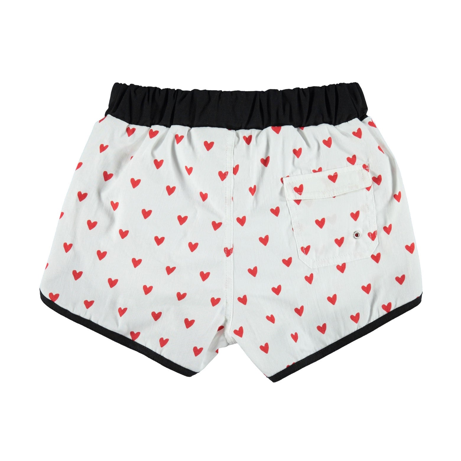 Piupiuchick Red Heart Print Baby Swim Shorts