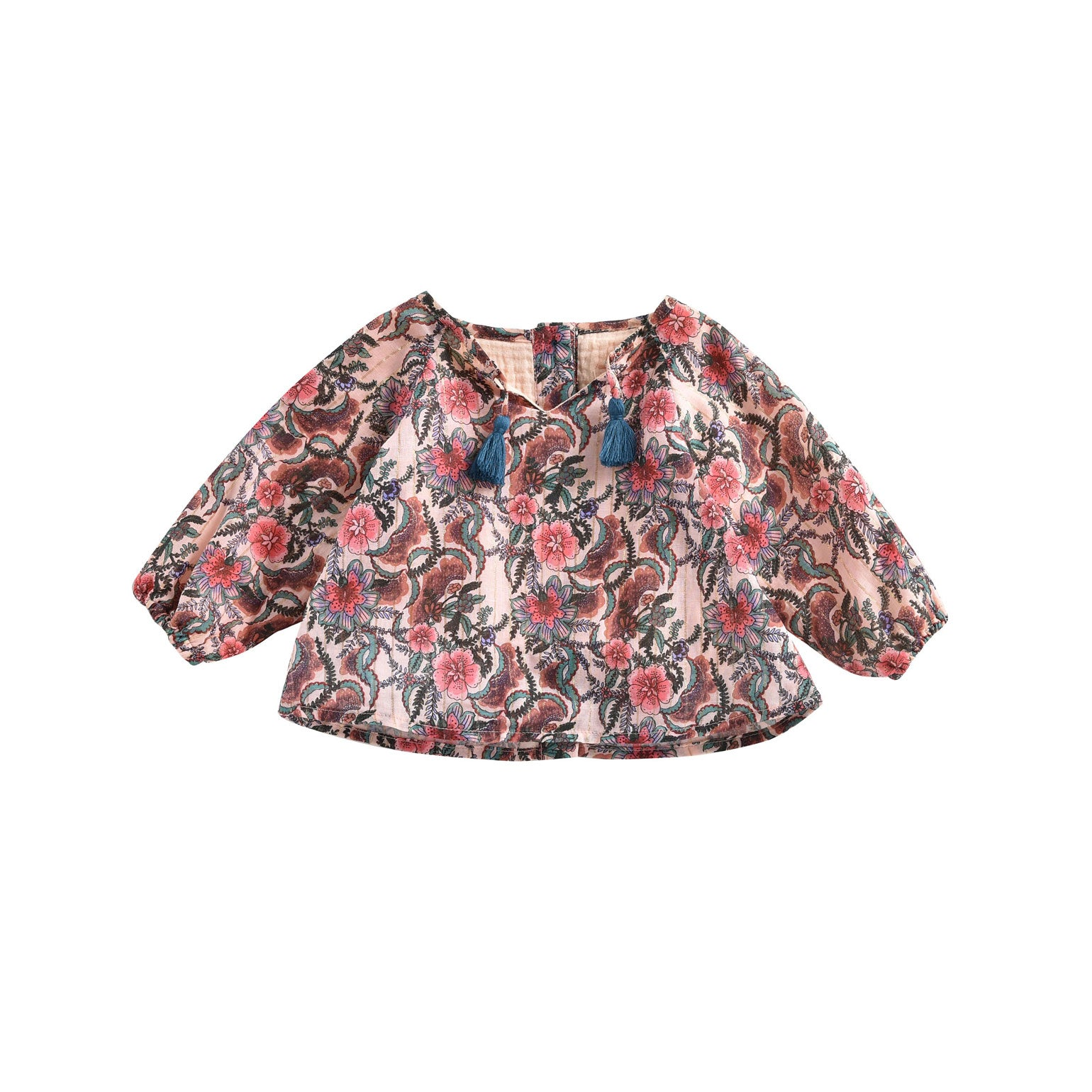 Louise Misha Blush Flowers Calleta Baby Blouse