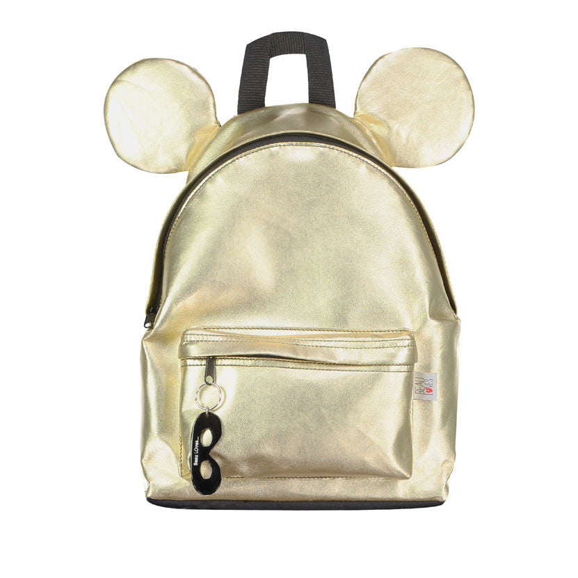 Beau Loves Gold Leather Backpack - Ladida