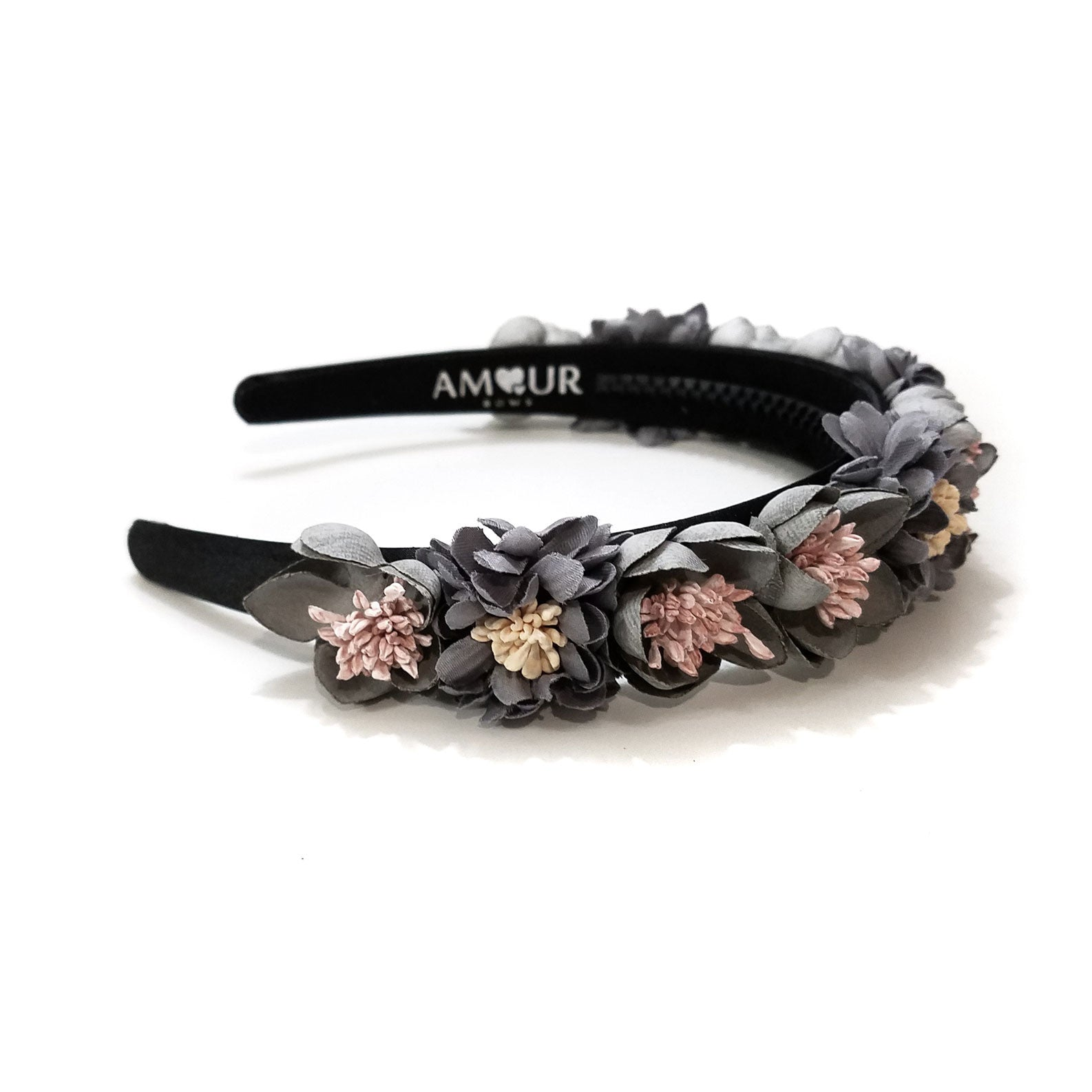 Amour Bows Dusty Blue/Grey Brave Headband - Ladida