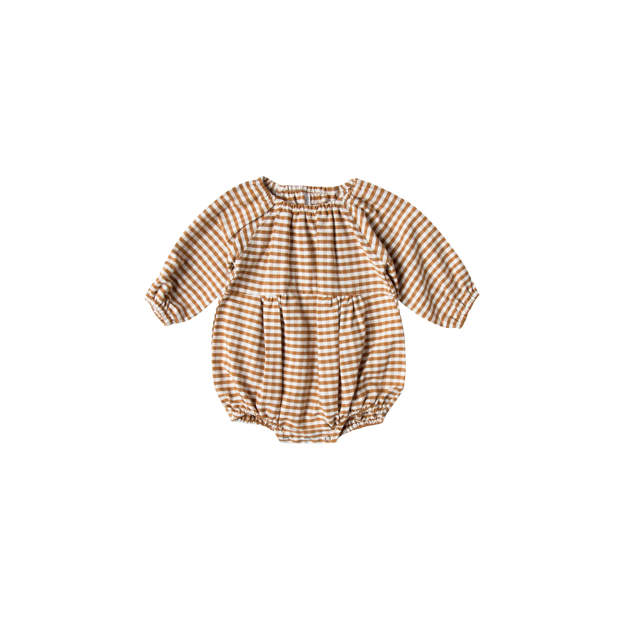 5d7666093c2 Rylee and Cru Saddle Ivory Gingham Bubble Romper