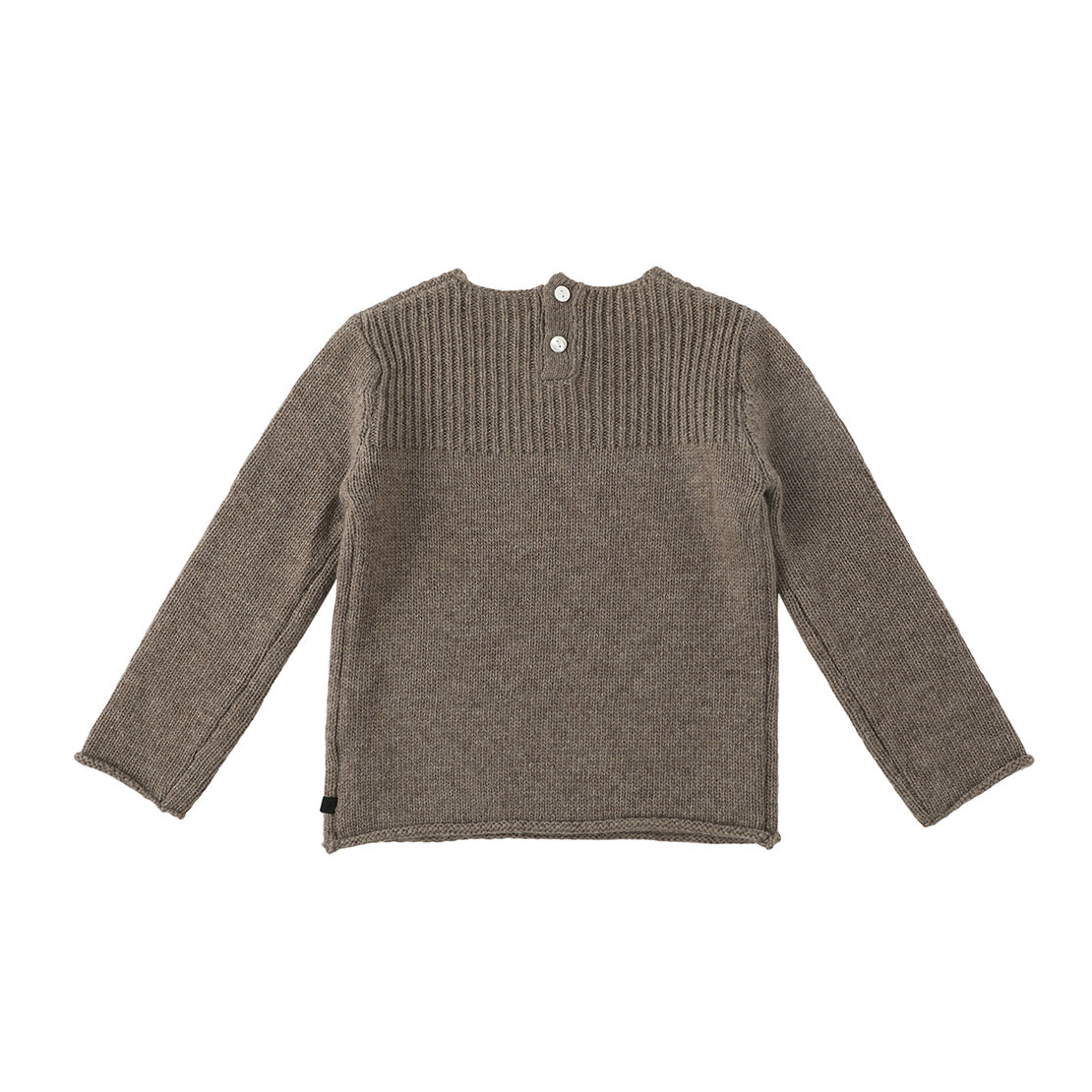 Bene Bene Khaki Brown Plum Knit Sweater