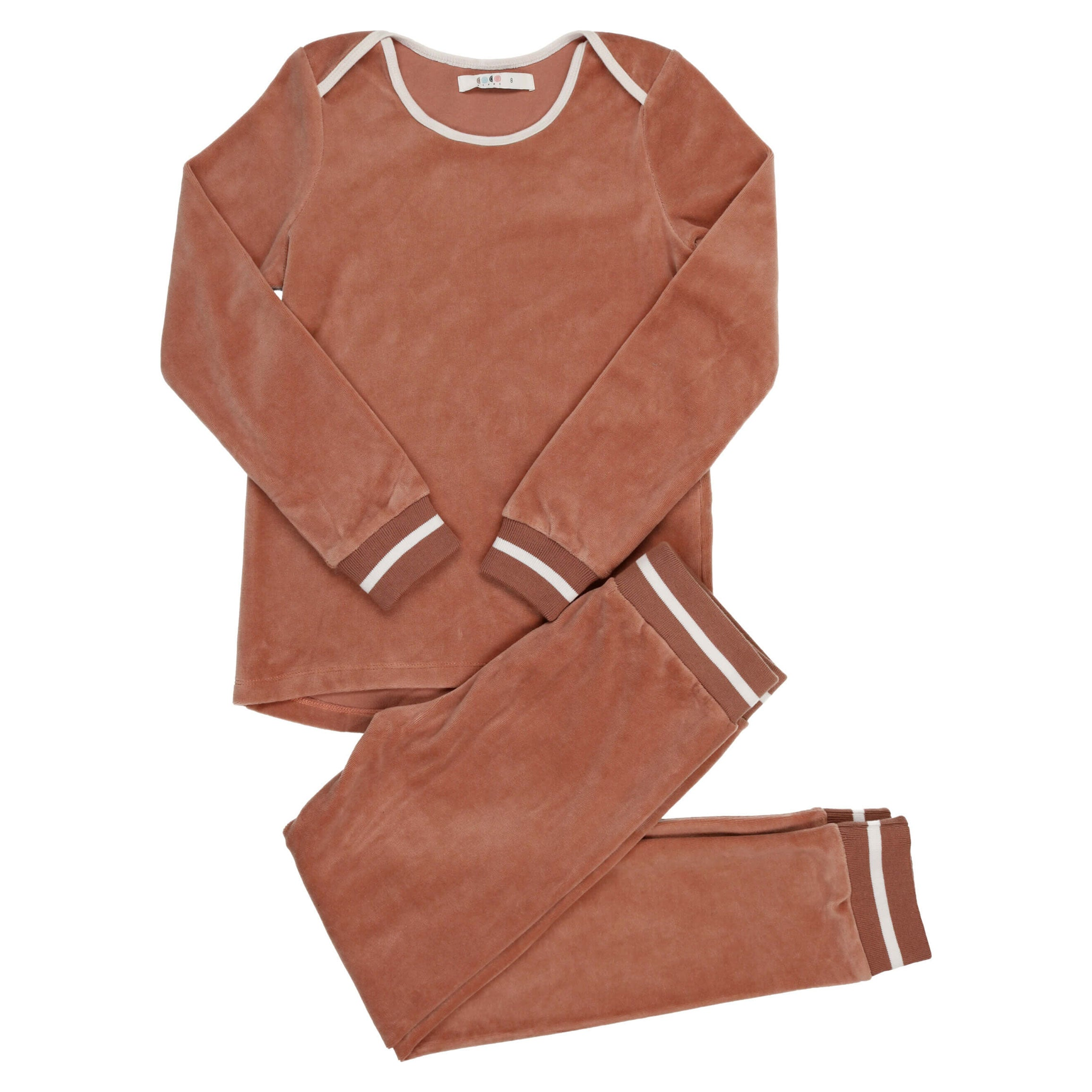 Coco Blanc Dusty Sand Velour Pajamas