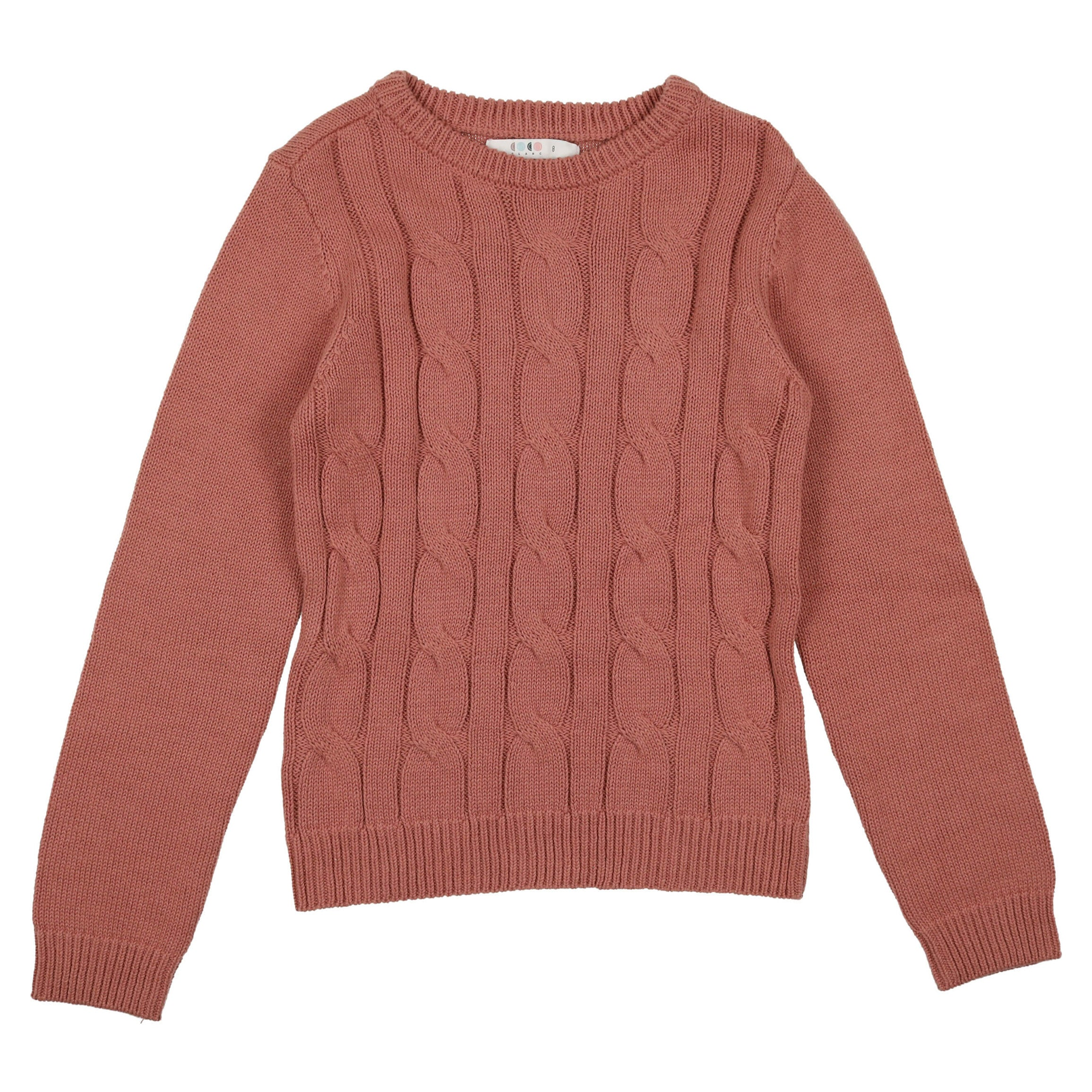 Coco Blanc Dusty Sand Cabled Sweater