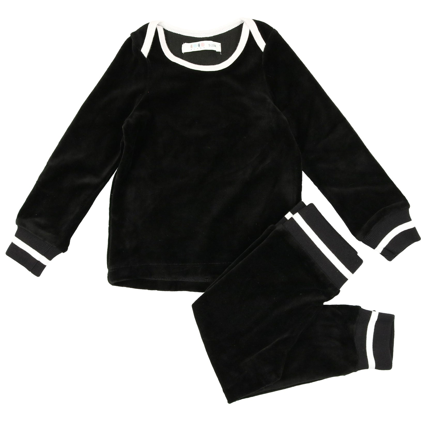 Coco Blanc Black Velour Pajamas