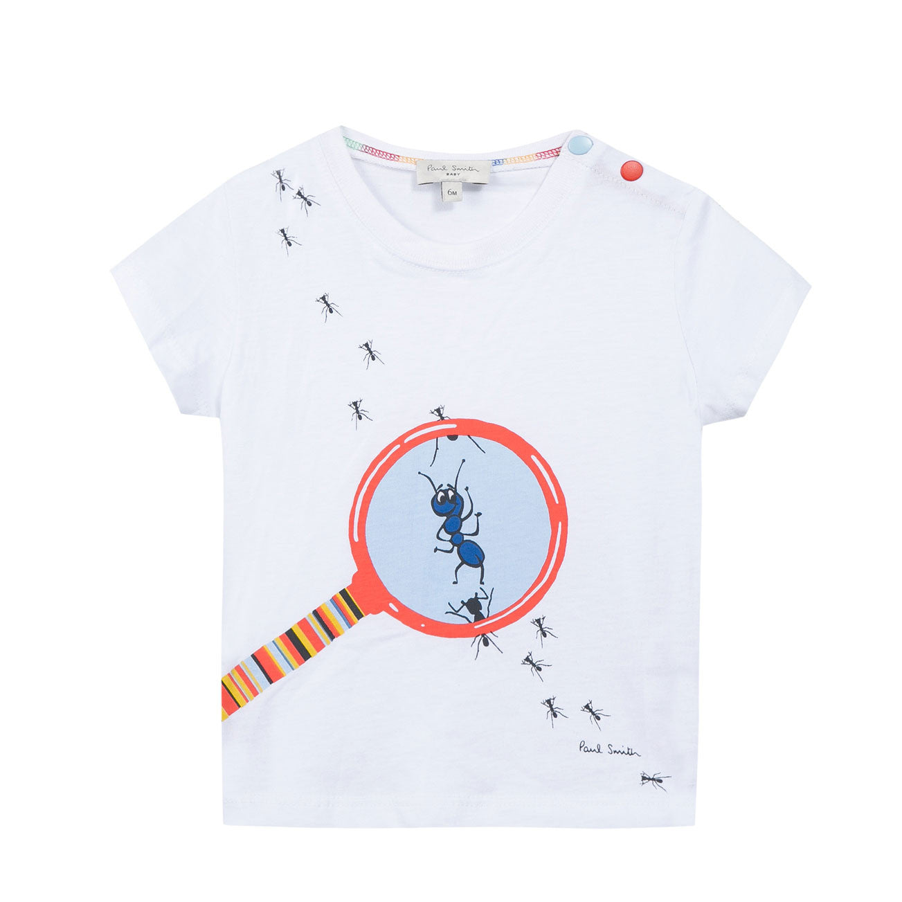 Paul Smith Baby White Ant Tee - Ladida
