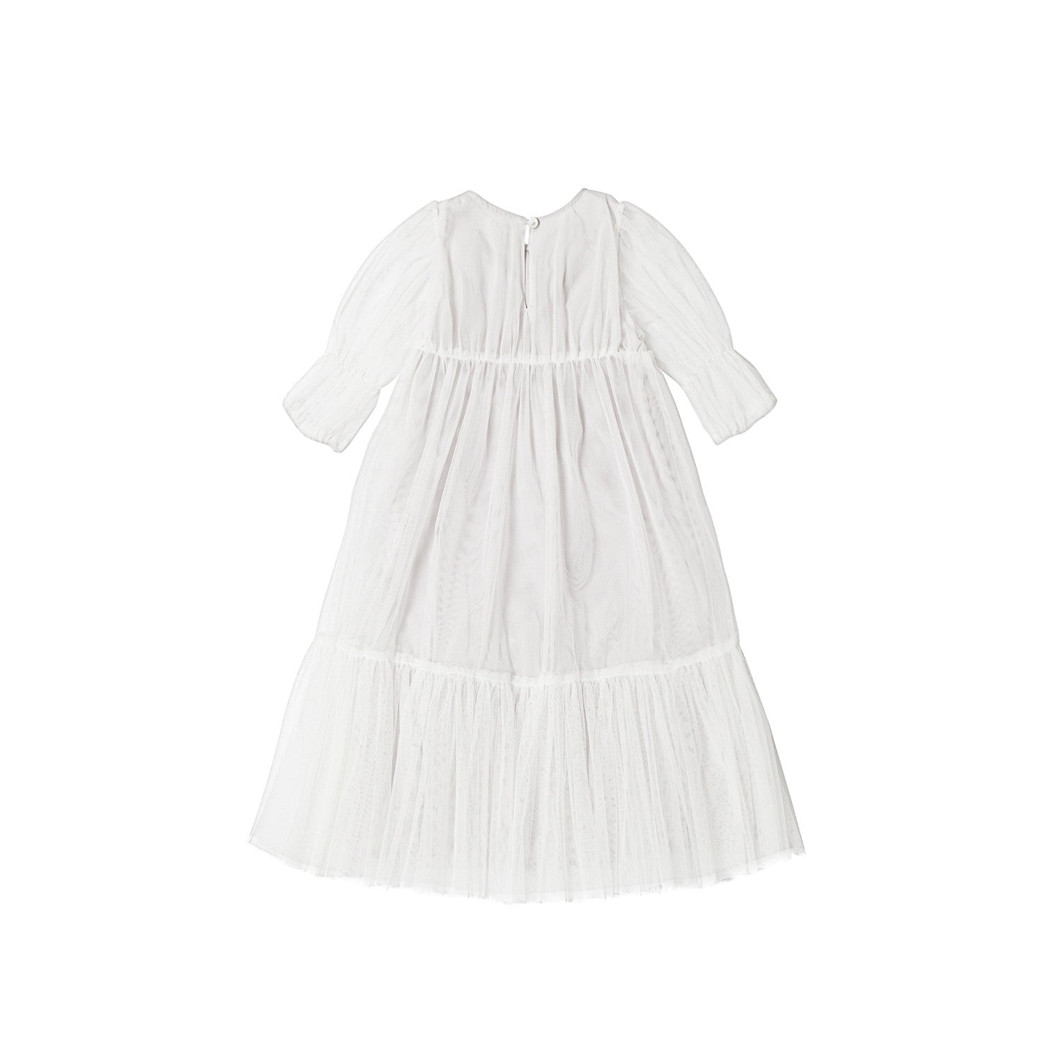 Bene Bene Mesh Cream Sausage Dress - Ladida