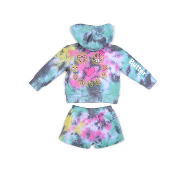 Butter Tie-Dye Fleece Set - Ladida