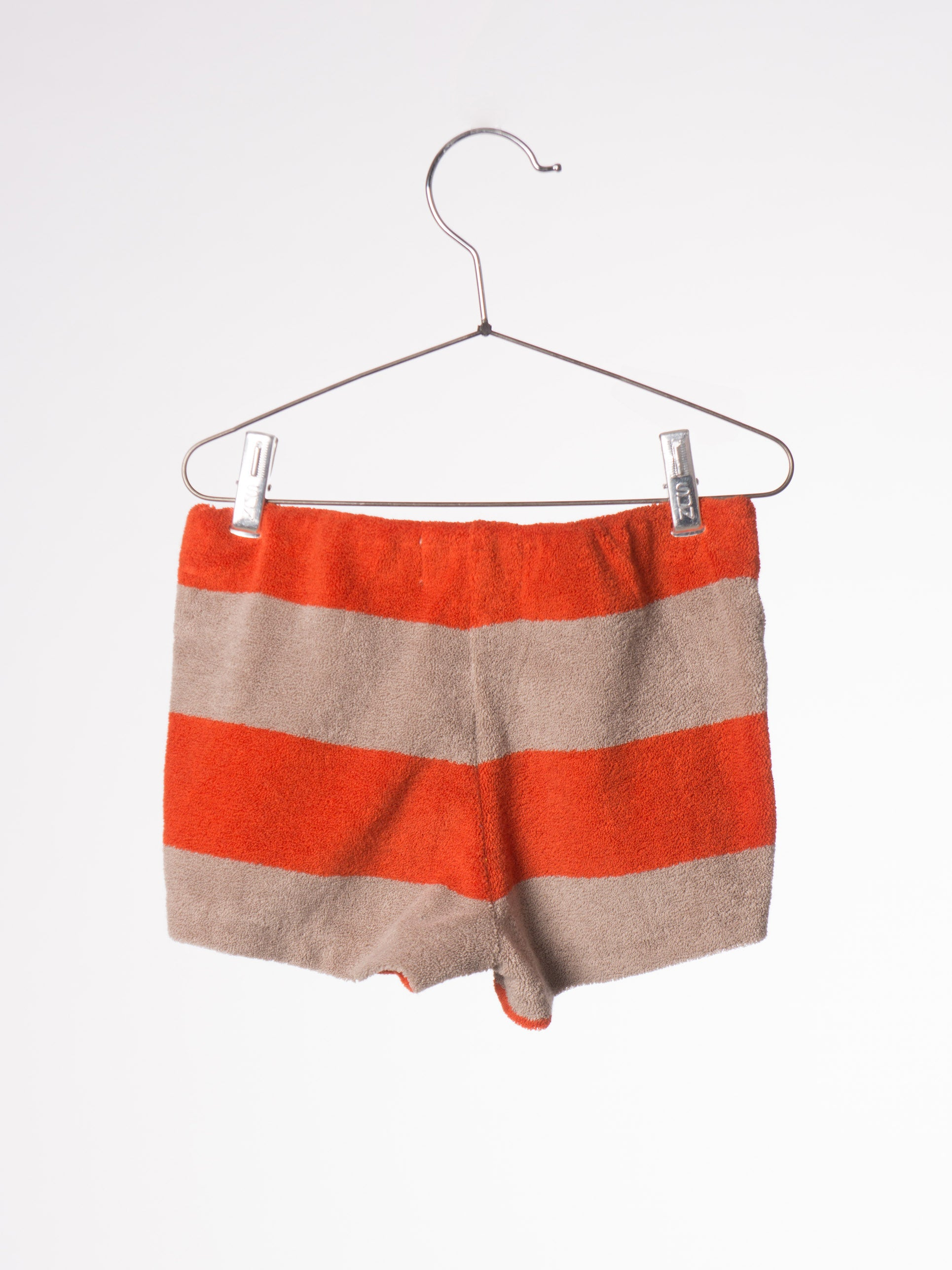 Bobo Choses BC Red Clay Striped Baby Terry Short - Ladida