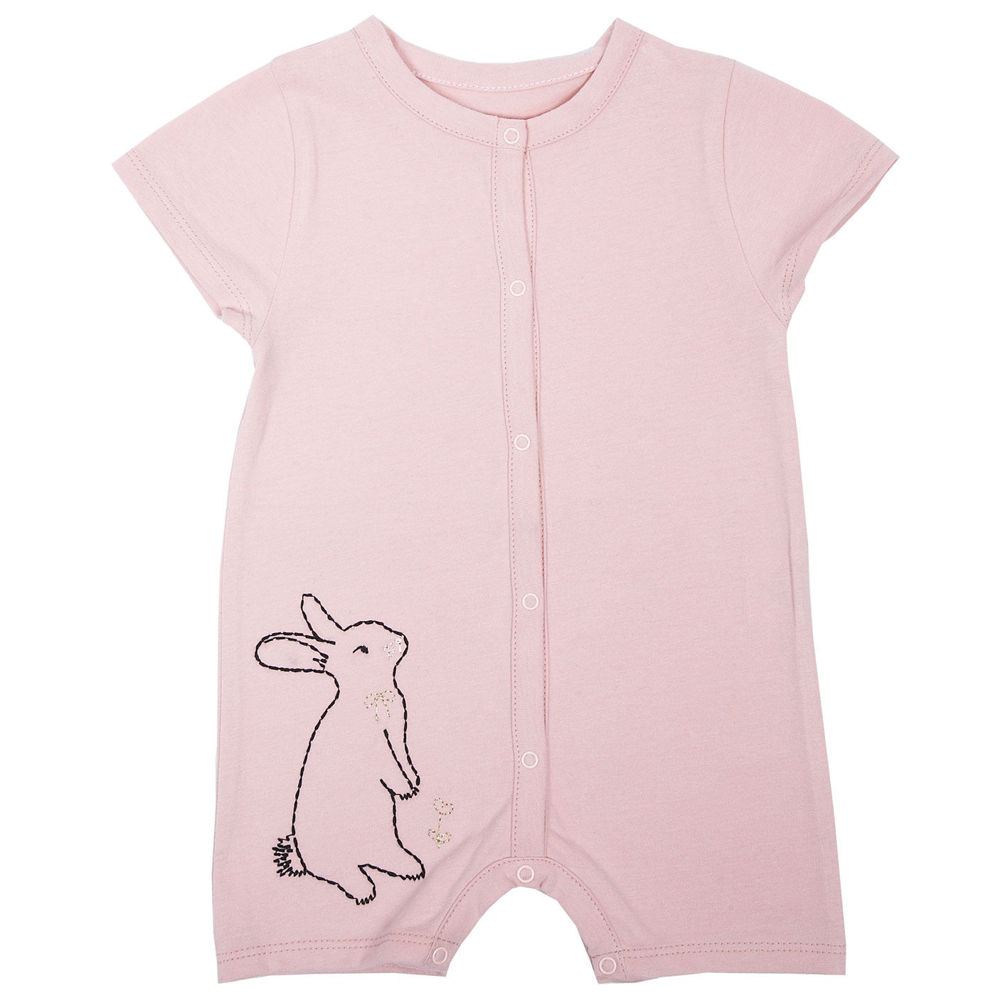 Emile Pink Rabbit Playsuit - Ladida