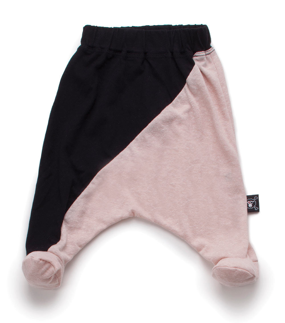 NUNUNU Black/Pink Baggy Footie - Ladida