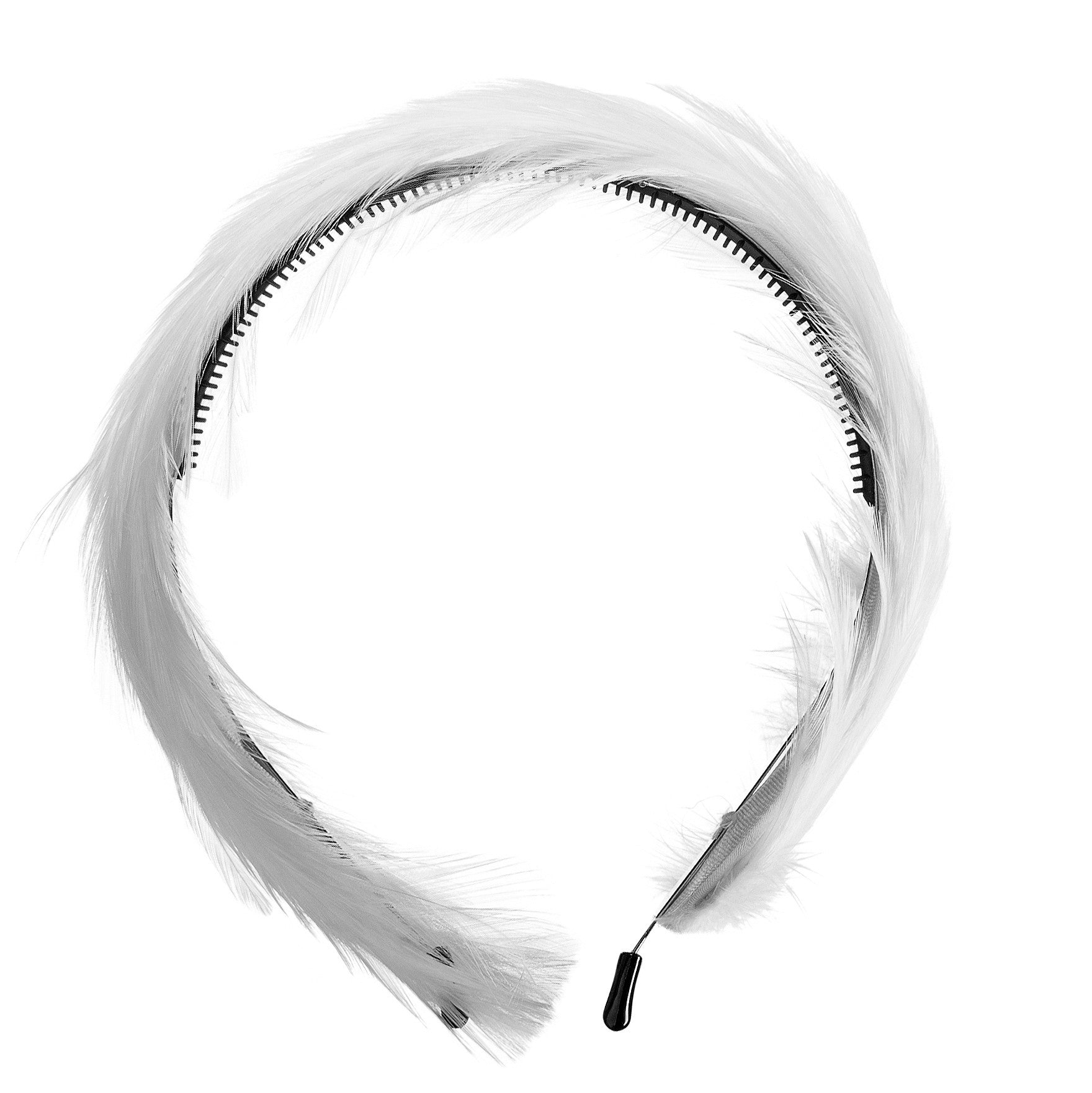 Amour Bows White Feather Headband - Ladida