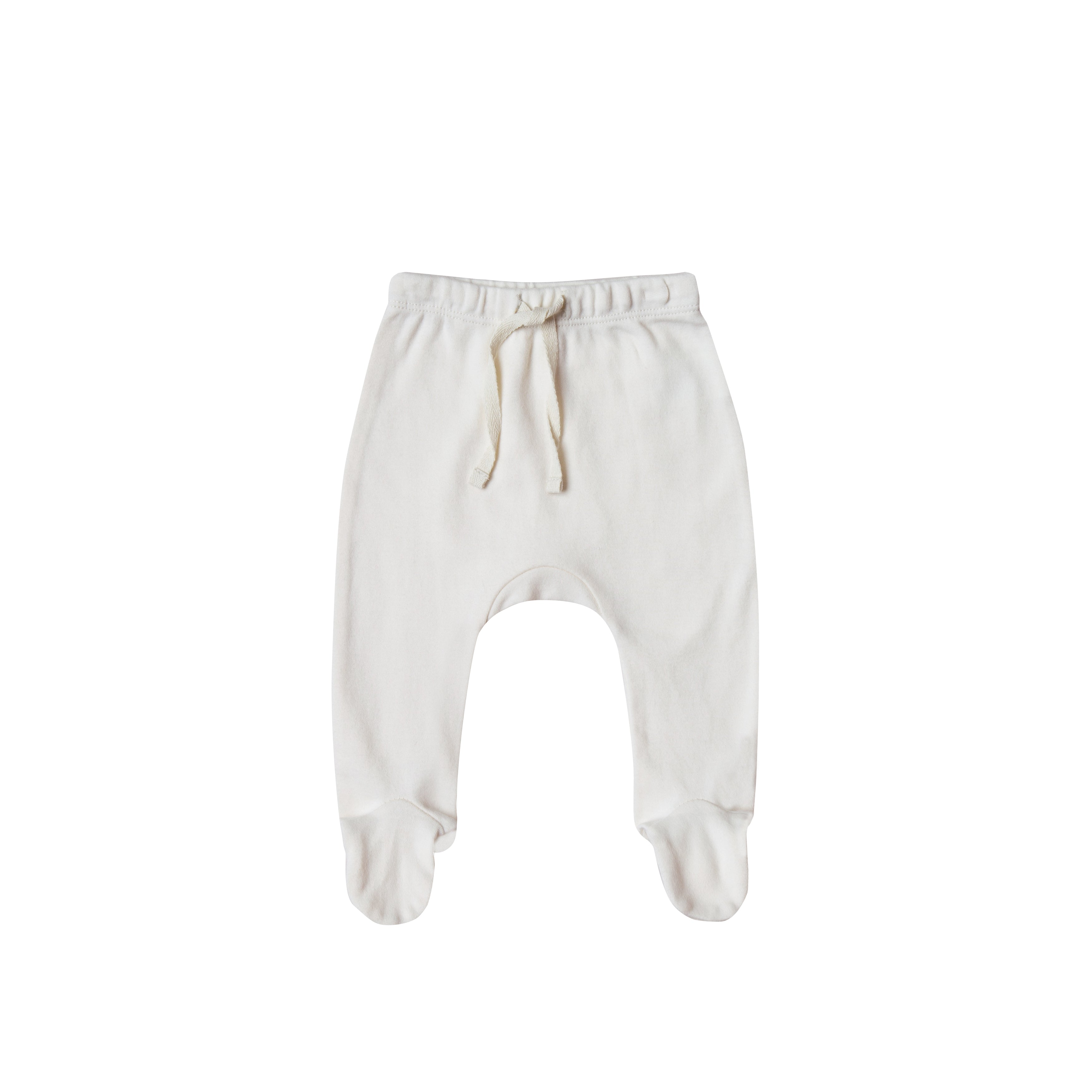 Quincy Mae Ivory Footed Pants