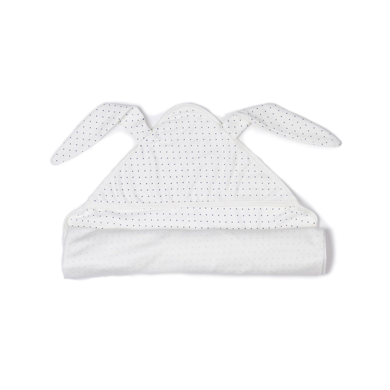 Oeuf White/Indigo Dots Bunny Swaddle - Ladida