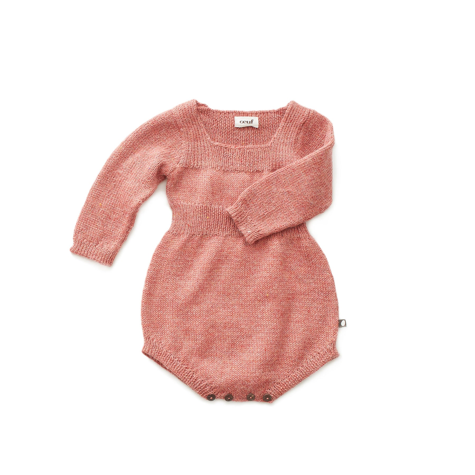 Oeuf Rose Knit Romper