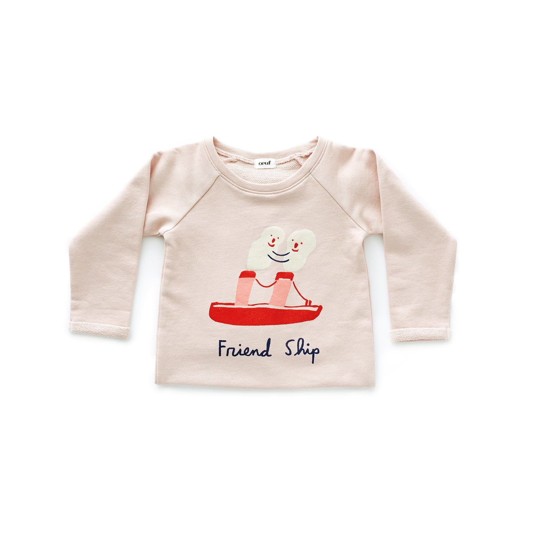 Oeuf Light Pink Friendship Sweatshirt - Ladida