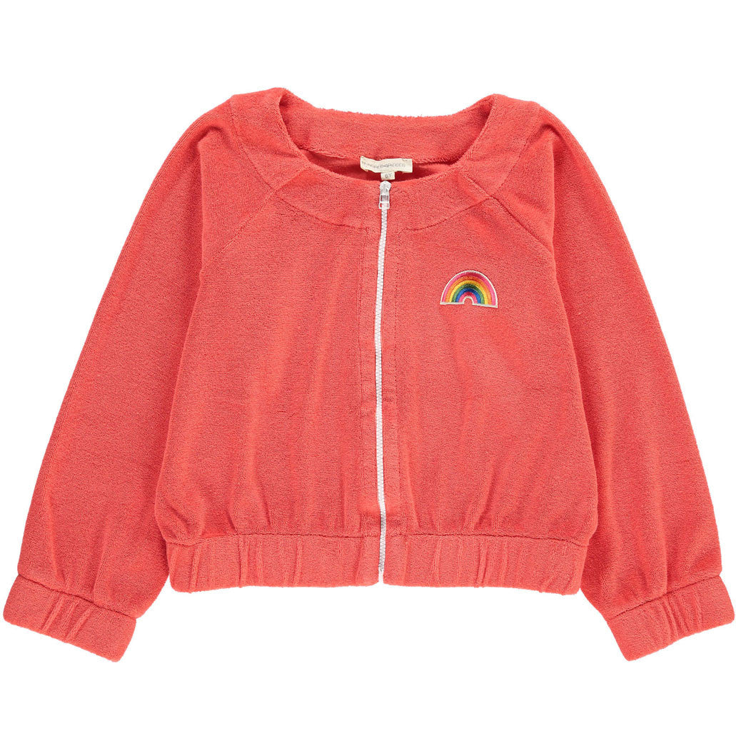 Hundred Pieces Sponge Rainbow Zipped Sweatshirt - Ladida