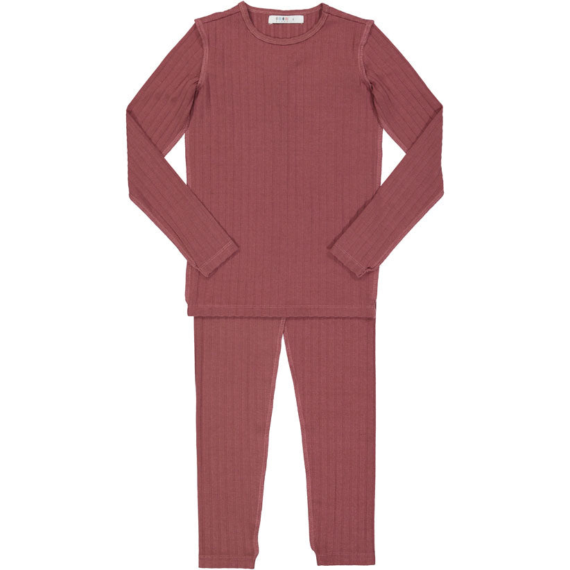 Coco Blanc Rose Ribbed Pjs - Ladida
