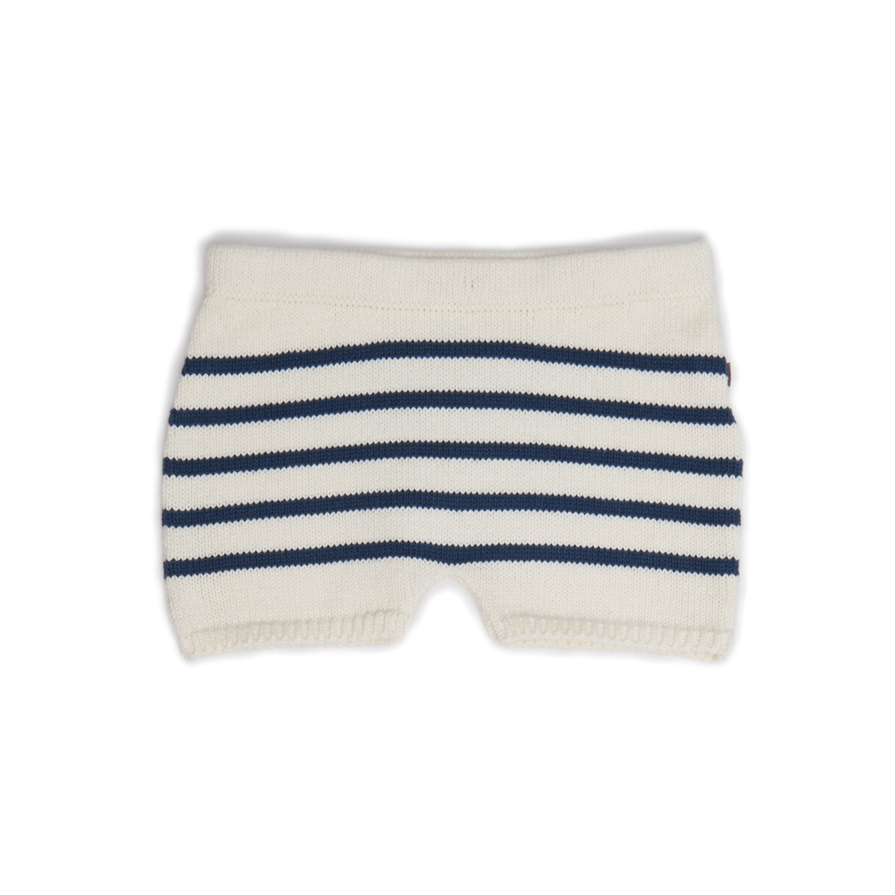 Oeuf Cream/Navy Stripes Retro Shorts - Ladida