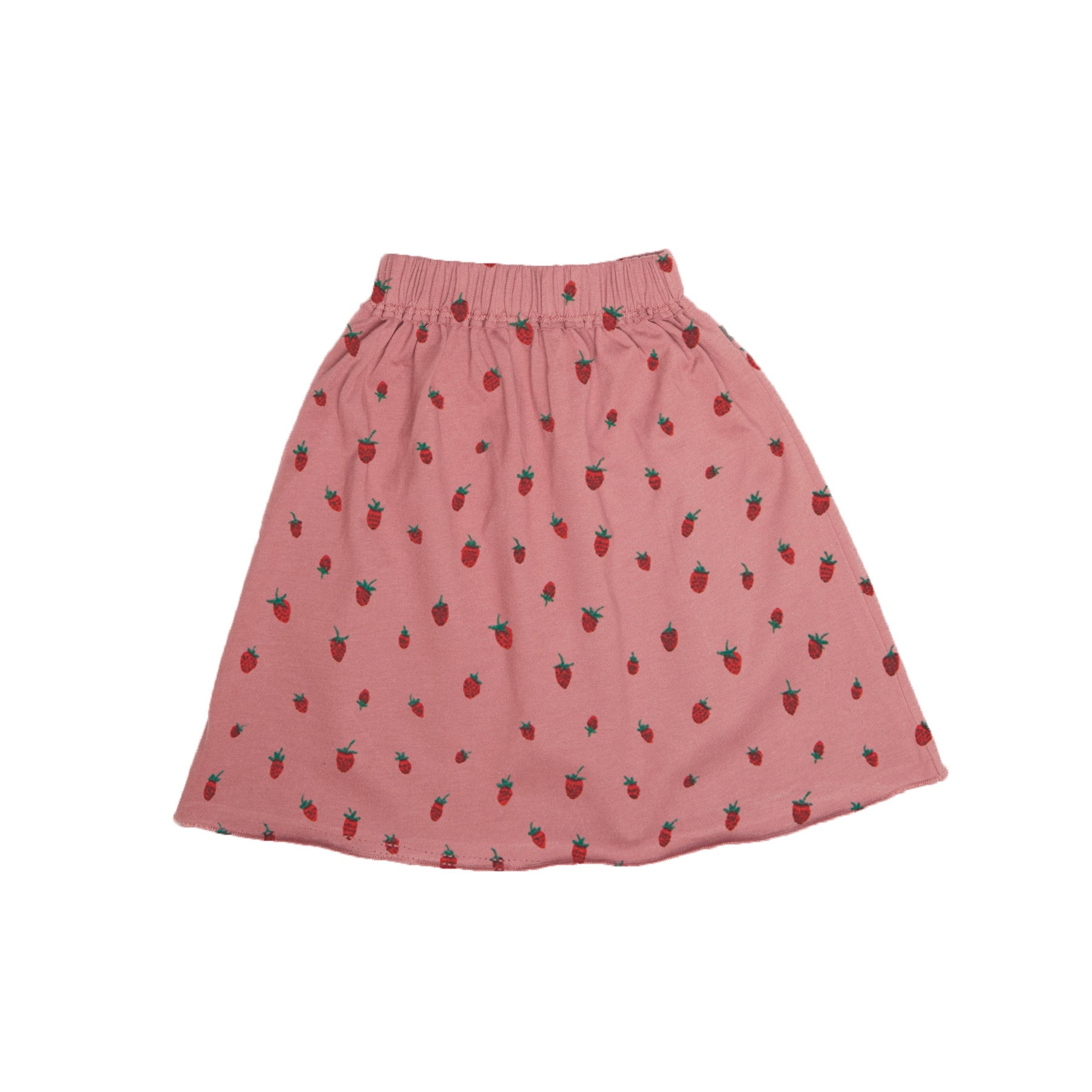 Oeuf Strawberries Jersey Skirt