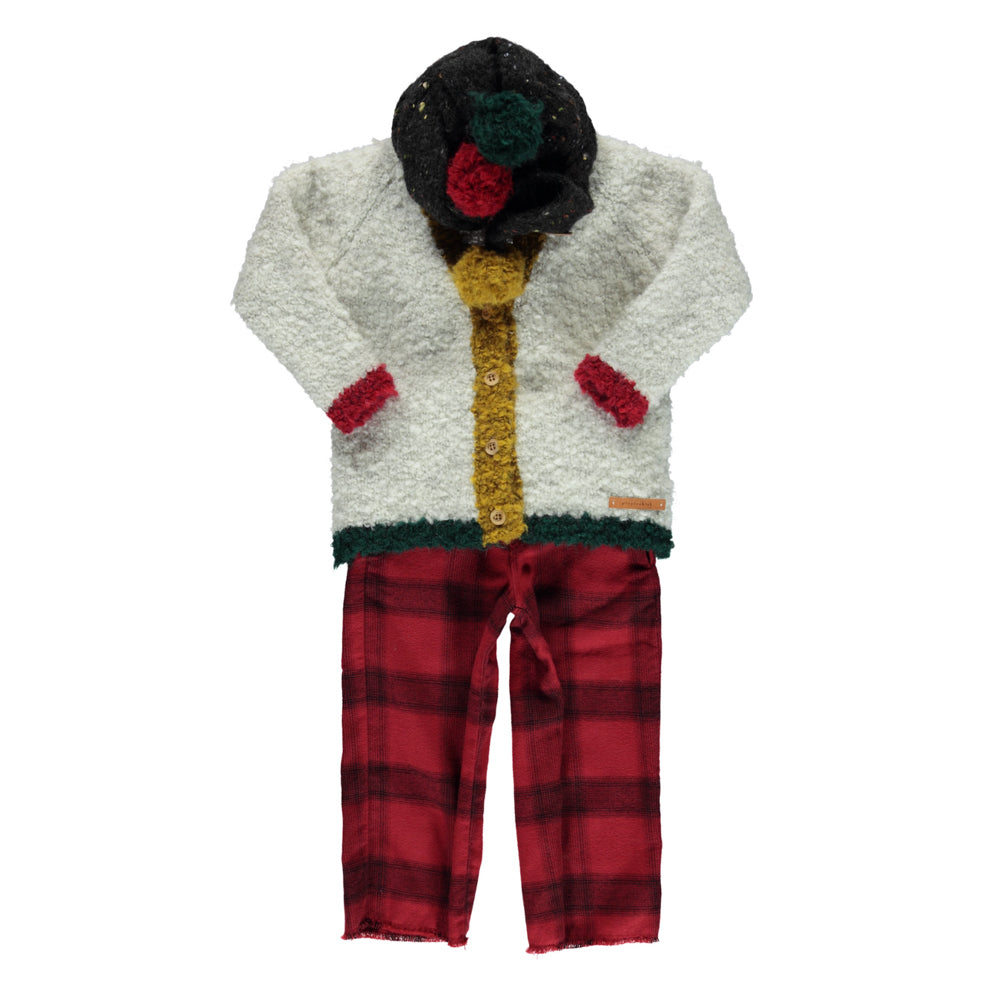 Piupiuchick Garnet Plaid Suspender Trousers