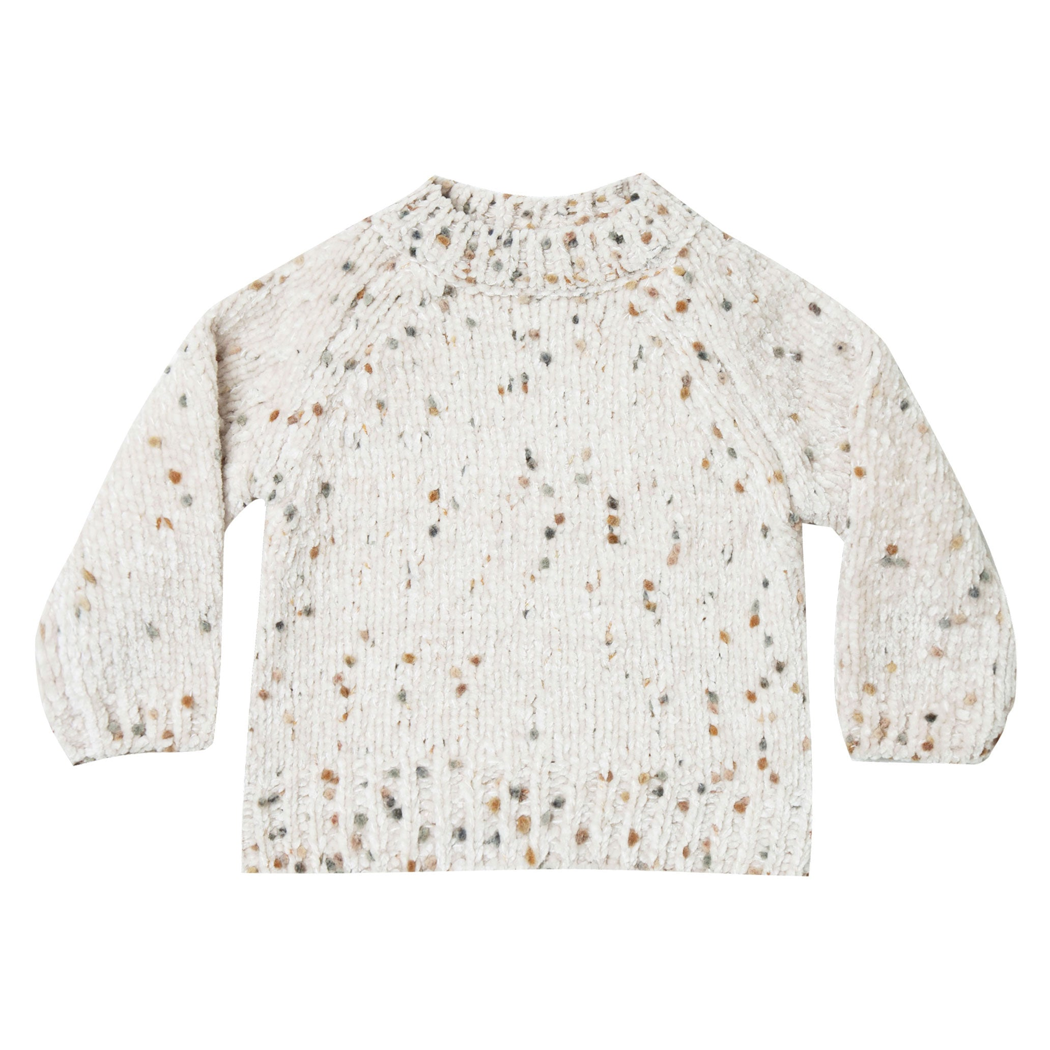 Rylee and Cru Wheat Pom Chenille Sweater
