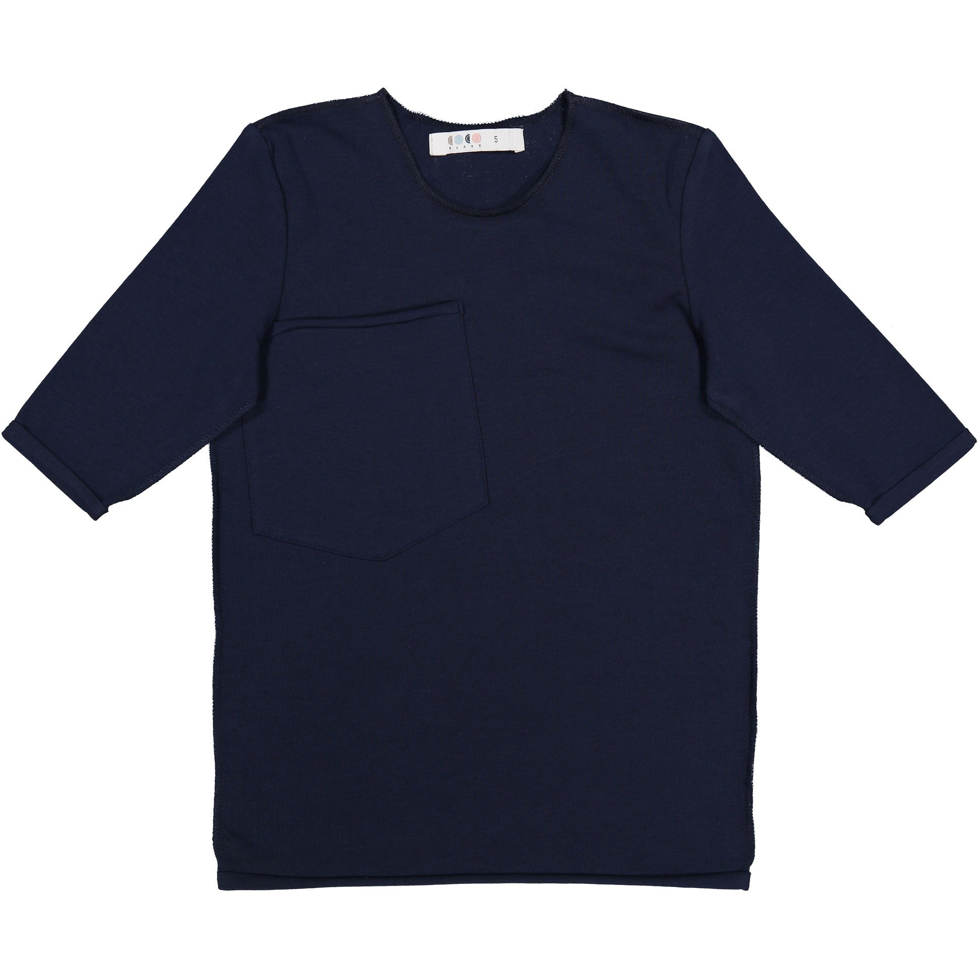 Coco Blanc Midnight Blue Three Quarter Sleeve Tee - Ladida