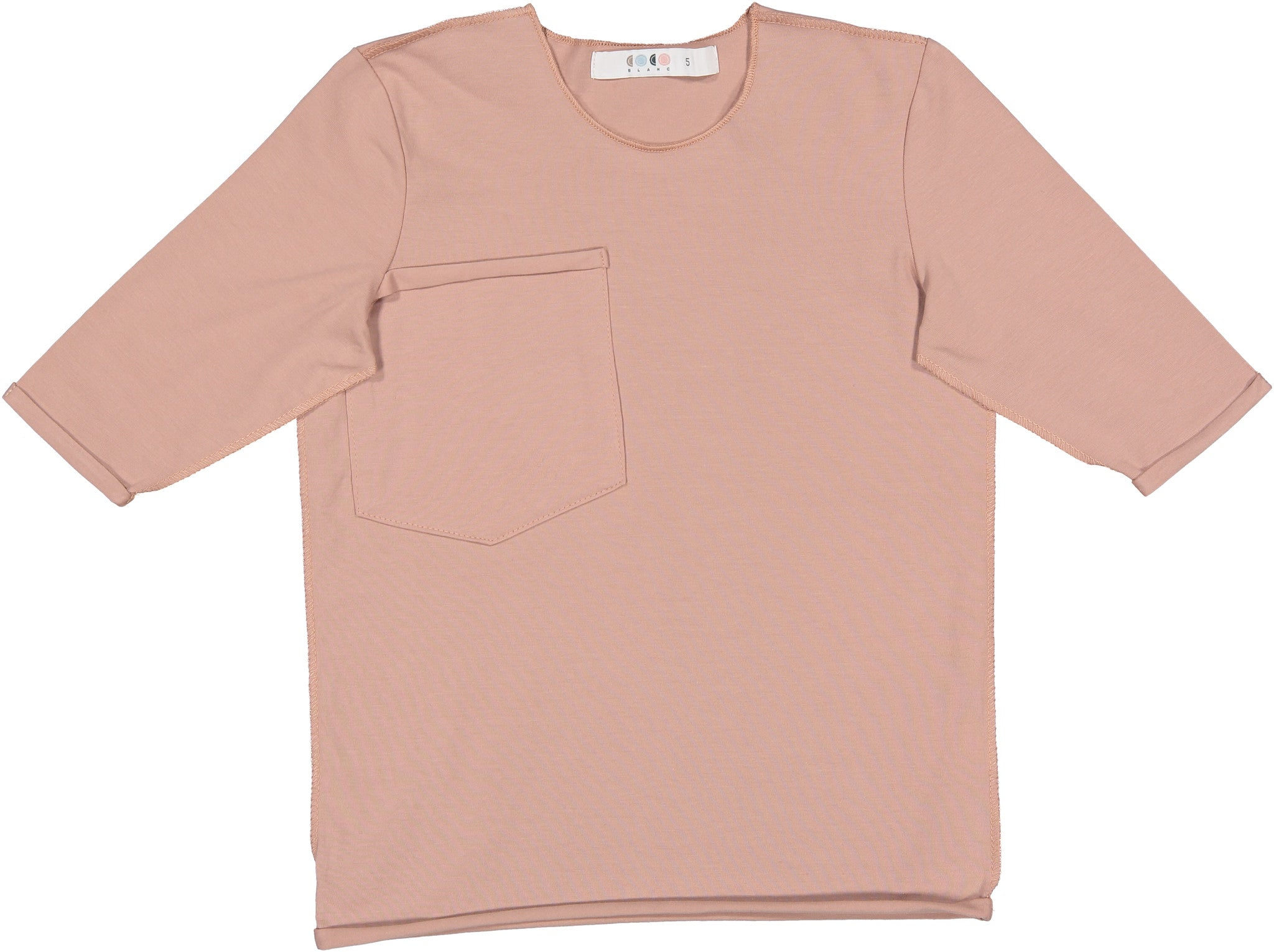 Coco Blanc Mauve Three Quarter Sleeve Tee - Ladida
