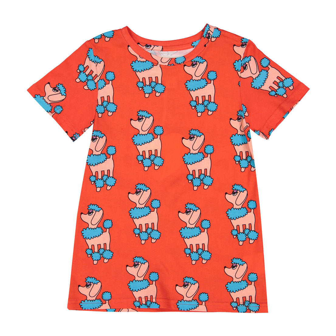 Hugo Loves Tiki  Red Poodle T-shirt