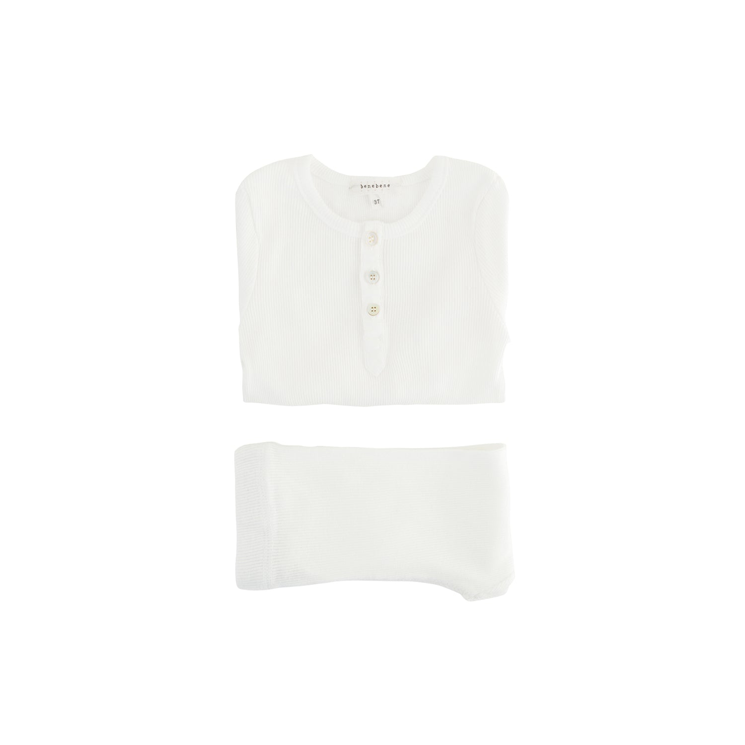 Bene Bene  Ivory Ribbed Button Twin Set
