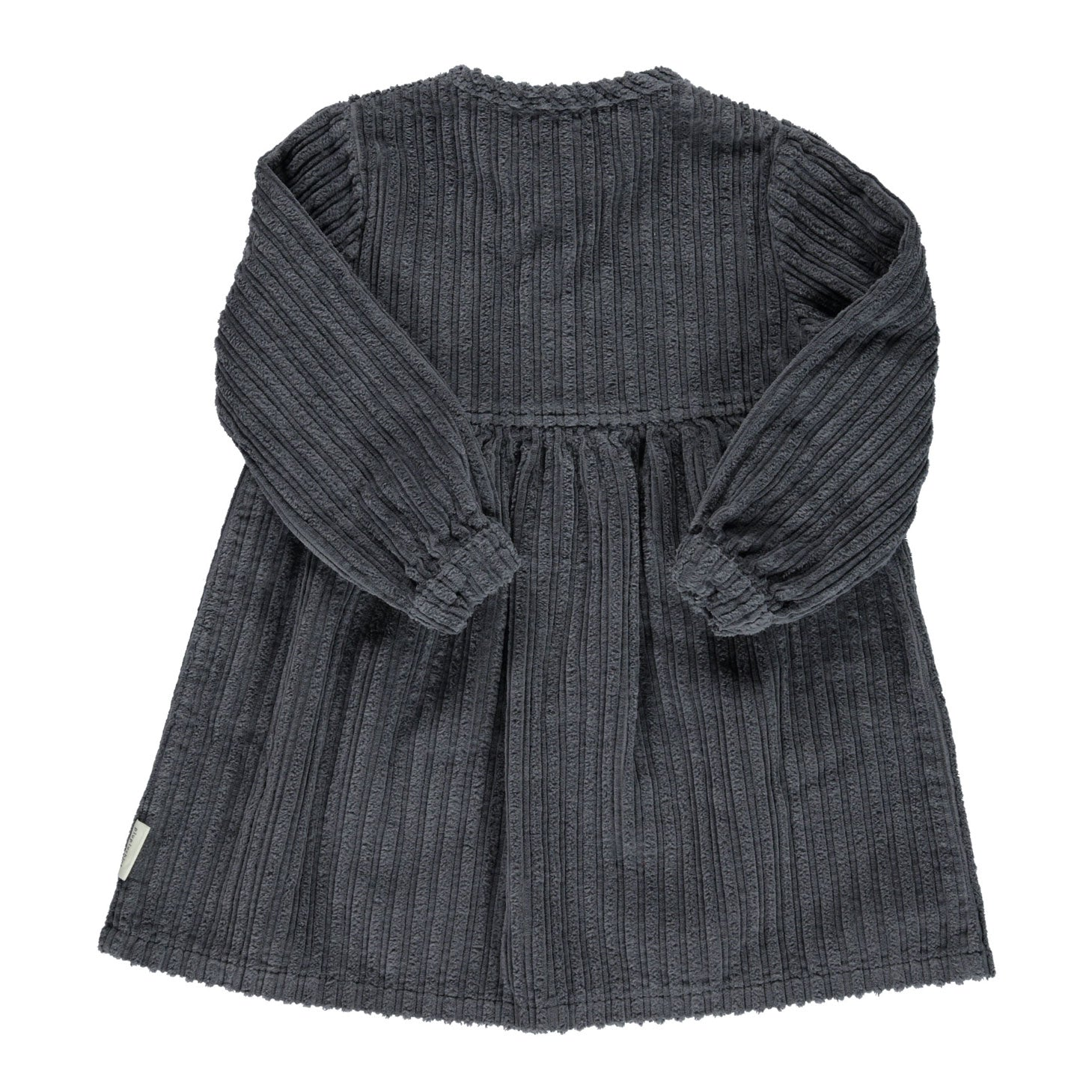 Piupiuchick Anthracite Corduroy Short Dress
