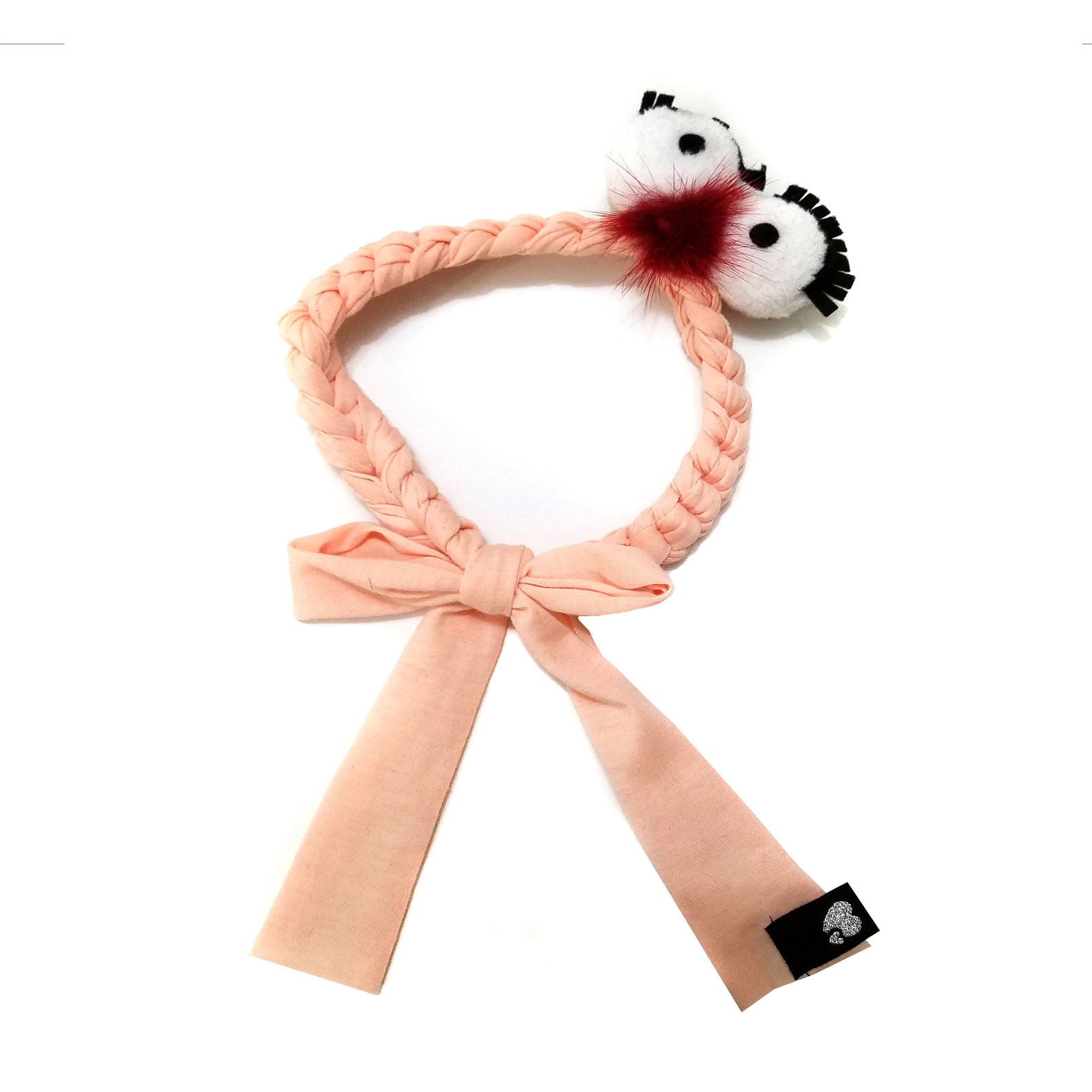 Amour Bows Peach Silly Mini Headband - Ladida