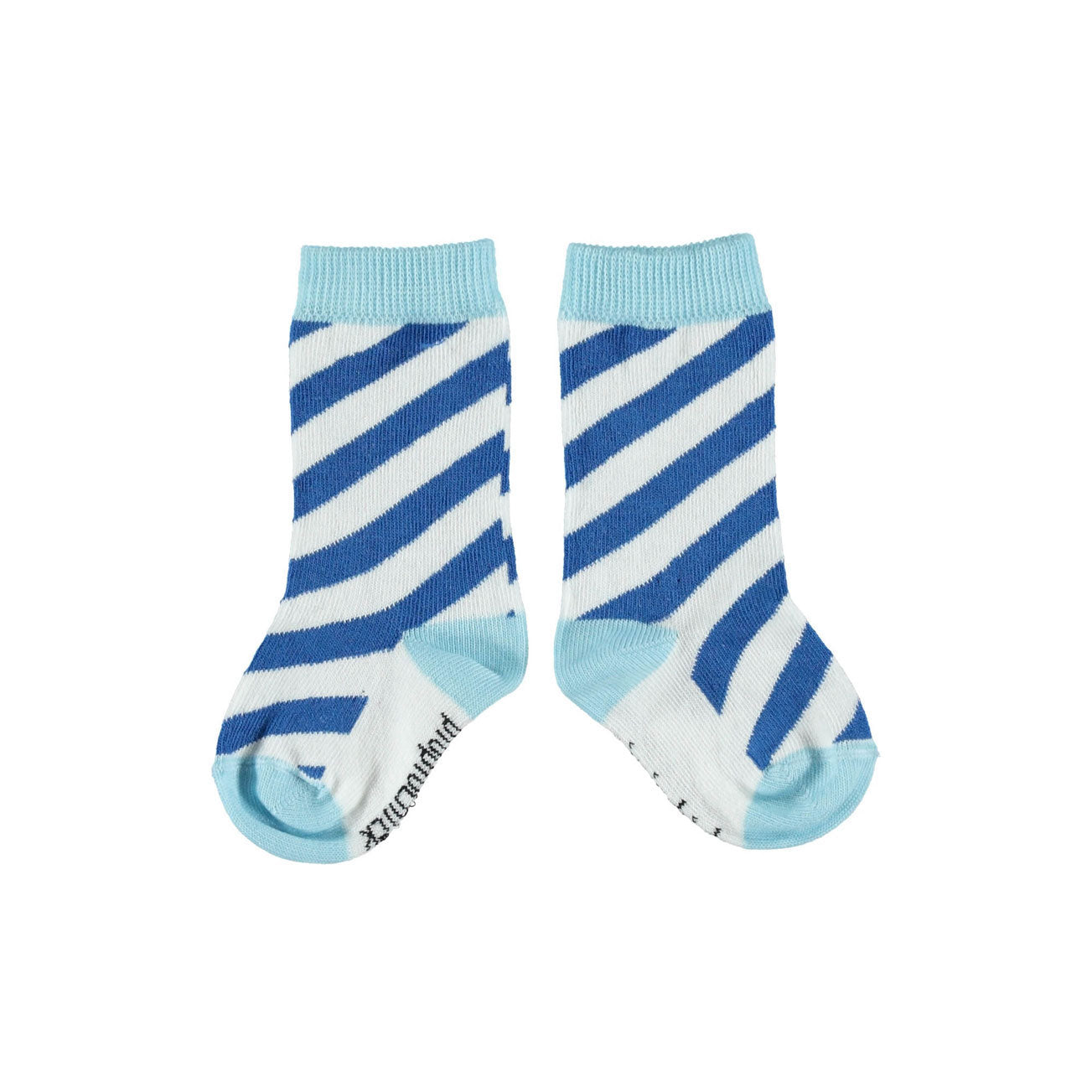 Piupiuchick Indigo Diagonal Striped Socks