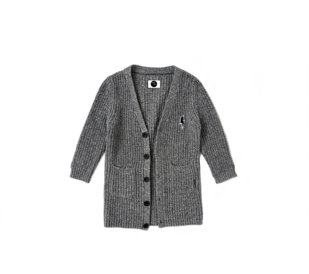 Sproet & Sprout Grey Knit Cardigan - Ladida