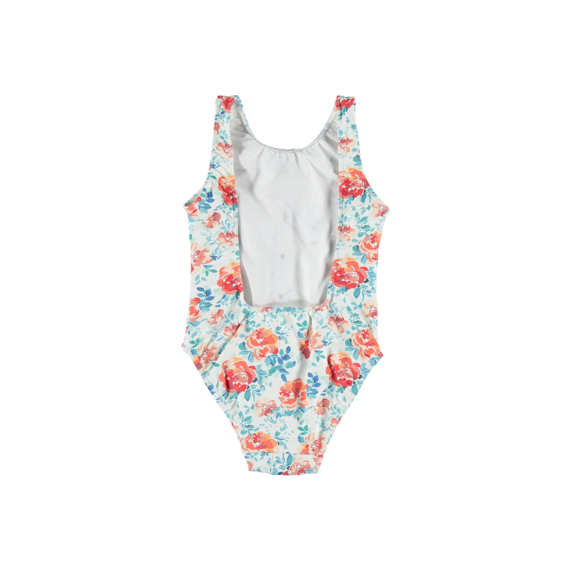 Piupiuchick Flowers Button Open Back Swimsuit