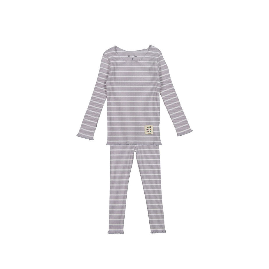 LADIDA Lavender/Taupe Stripe Girls Pjs