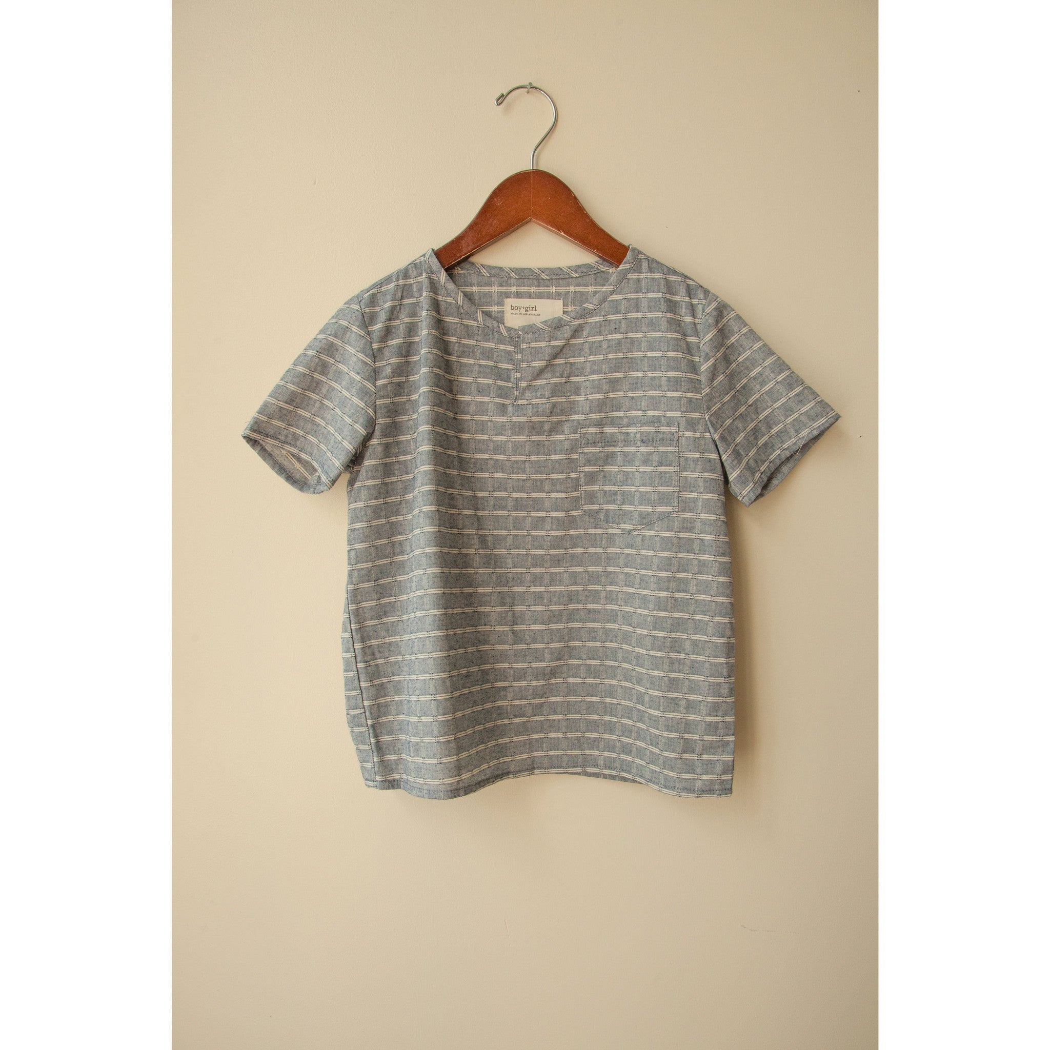 Boy + Girl Chambray Shorl Sleeve Kurta - Ladida